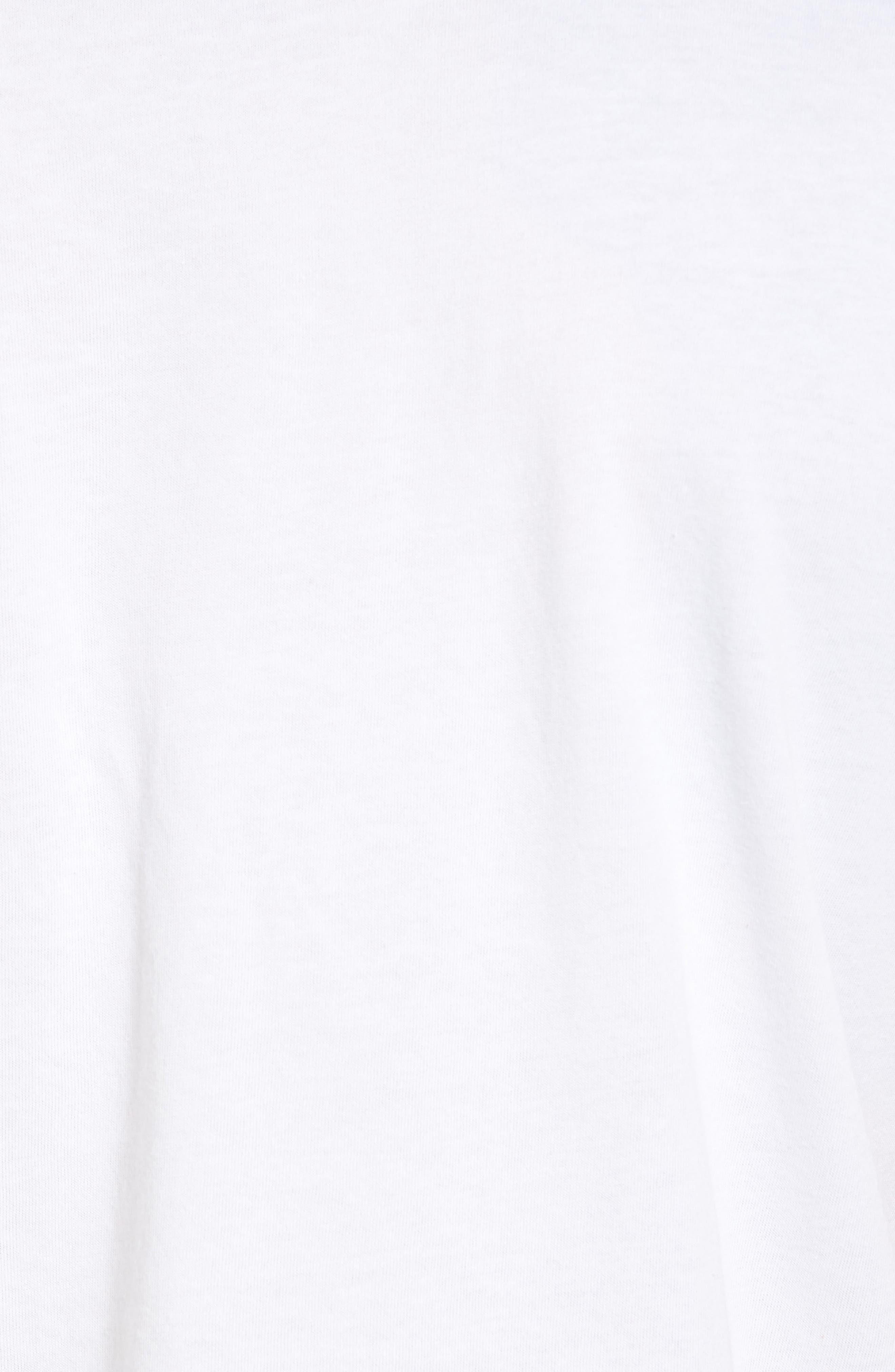 Dry No Excuses Training T-Shirt,                             Alternate thumbnail 5, color,                             White