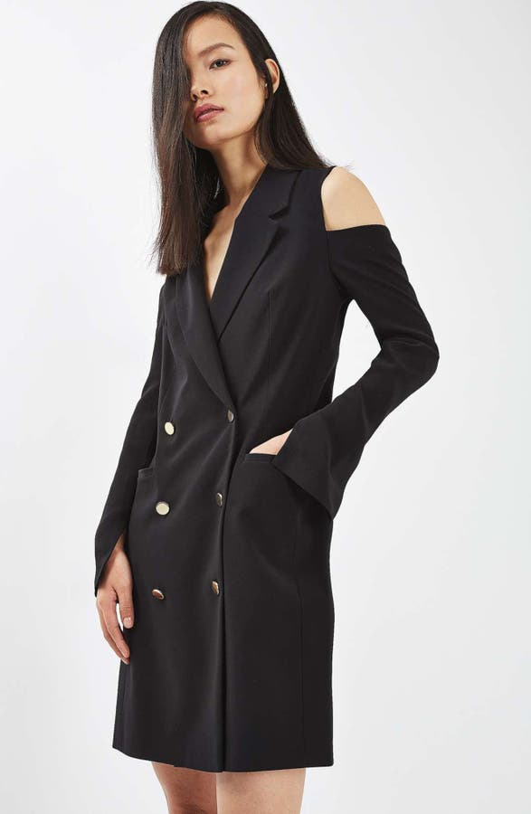 Topshop Cold Shoulder Blazer Dress Nordstrom
