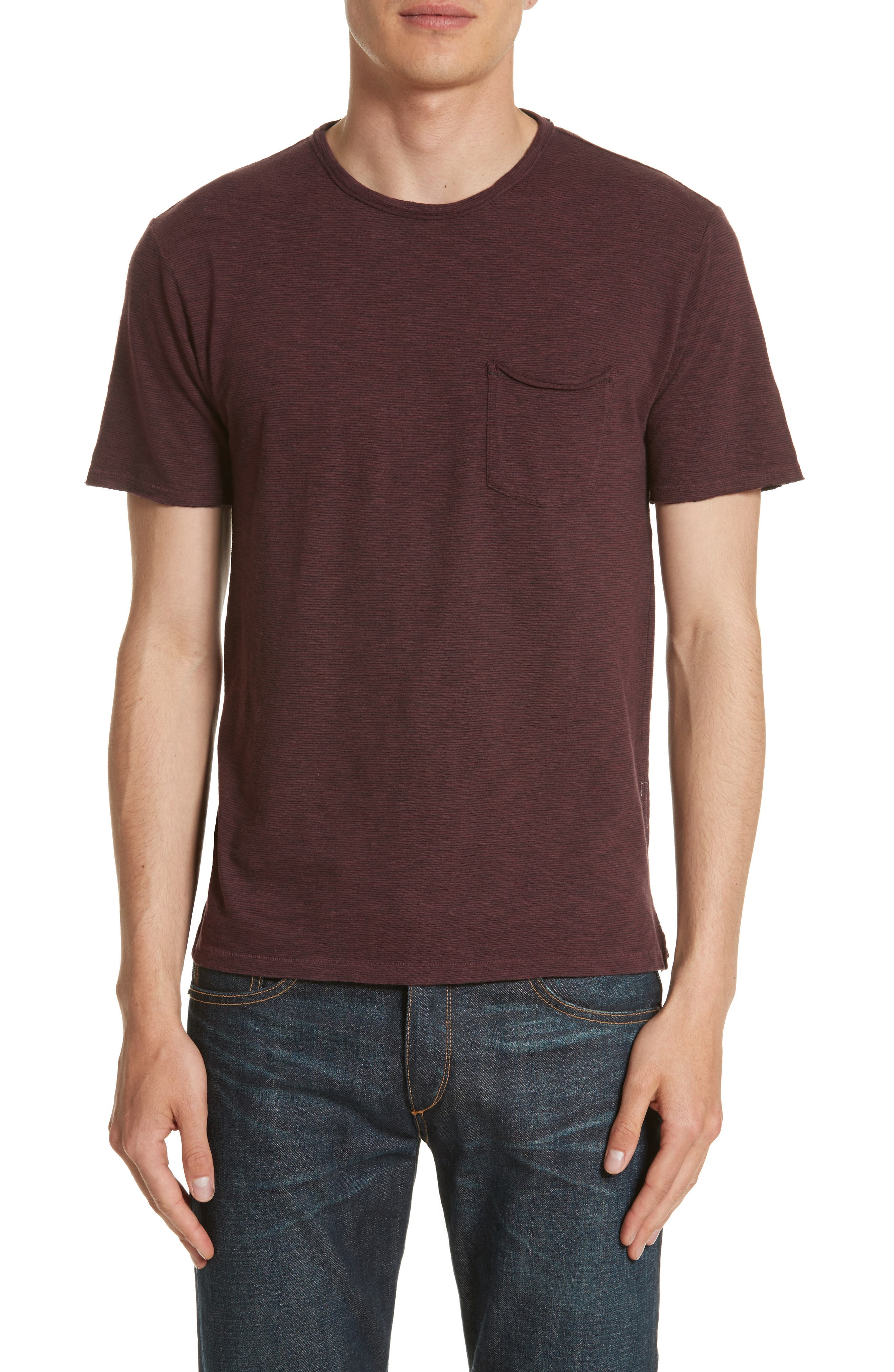 Owen Pocket T-Shirt,                         Main,                         color, Mohagany