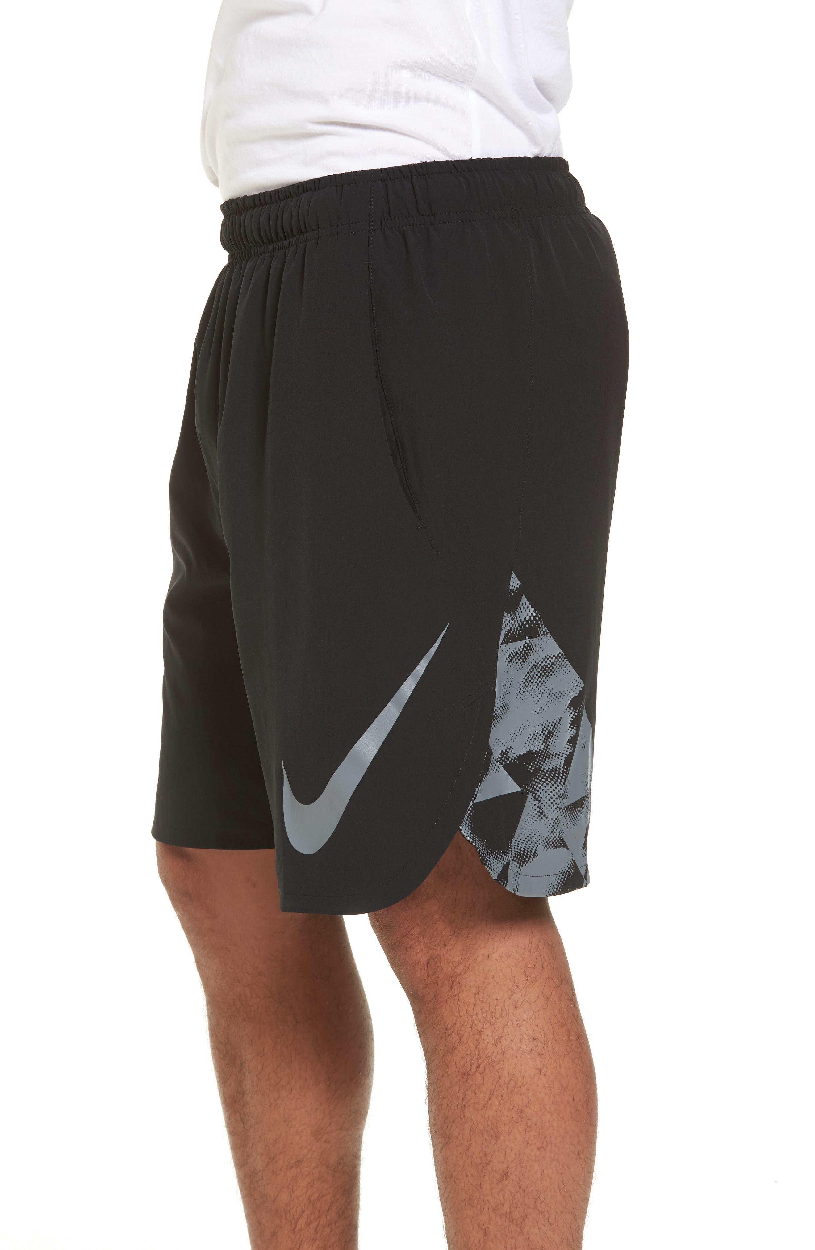 Flex Training Shorts,                             Alternate thumbnail 3, color,                             Black/ Cool Grey
