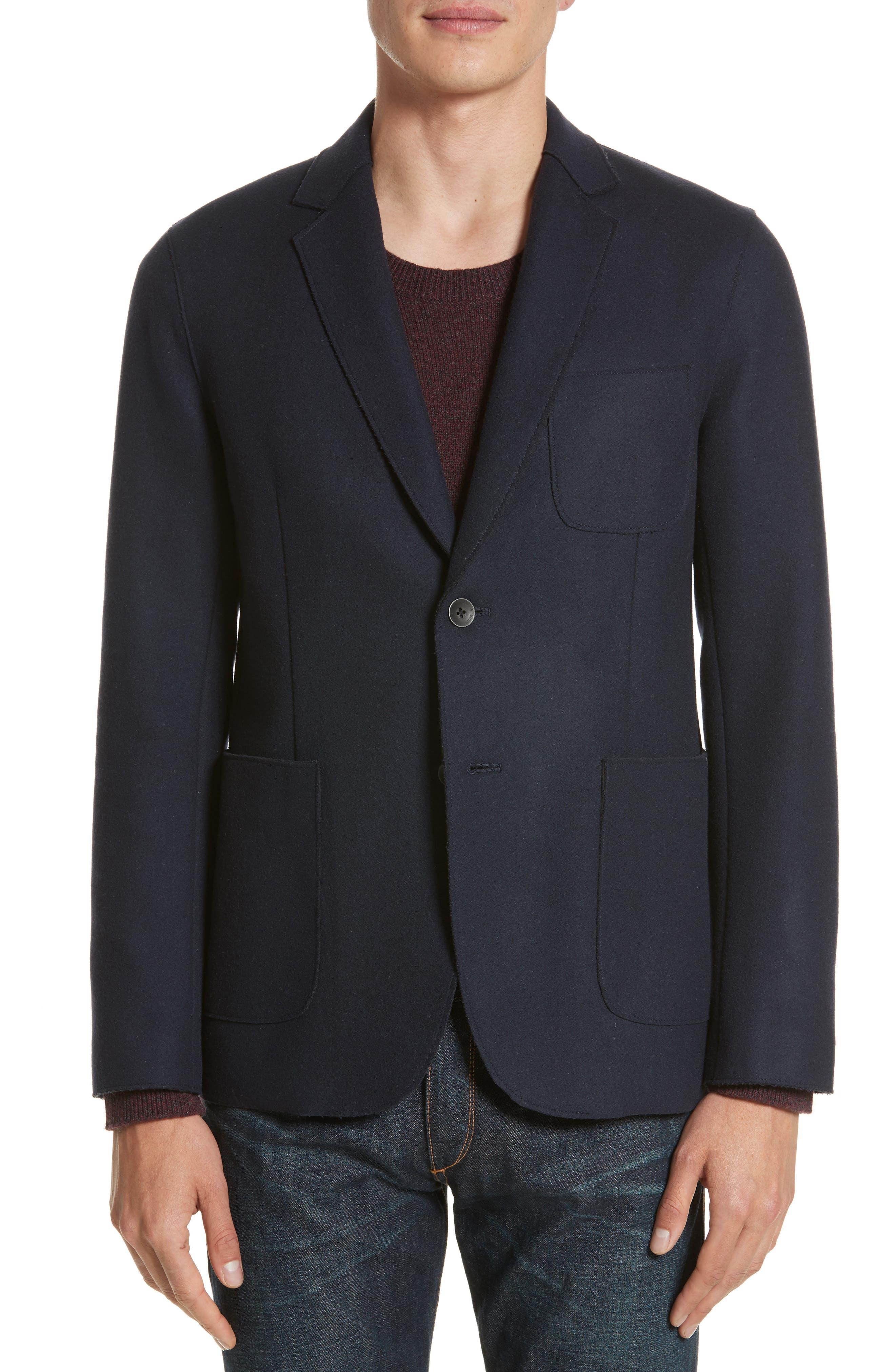 Woodall Wool Blend Blazer,                         Main,                         color, Salute Black