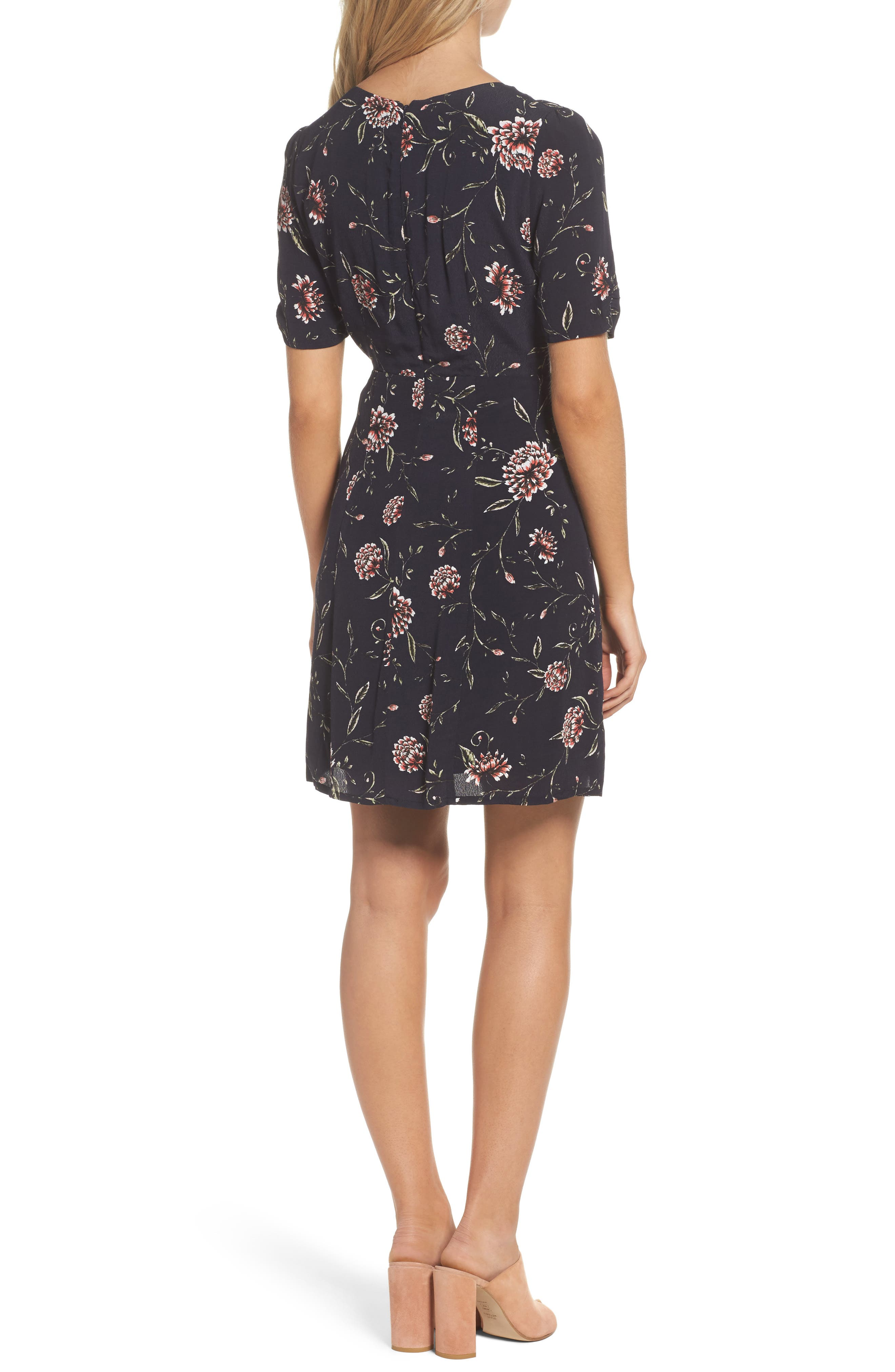 Alternate Image 2  - Bardot Tie Front Floral Dress