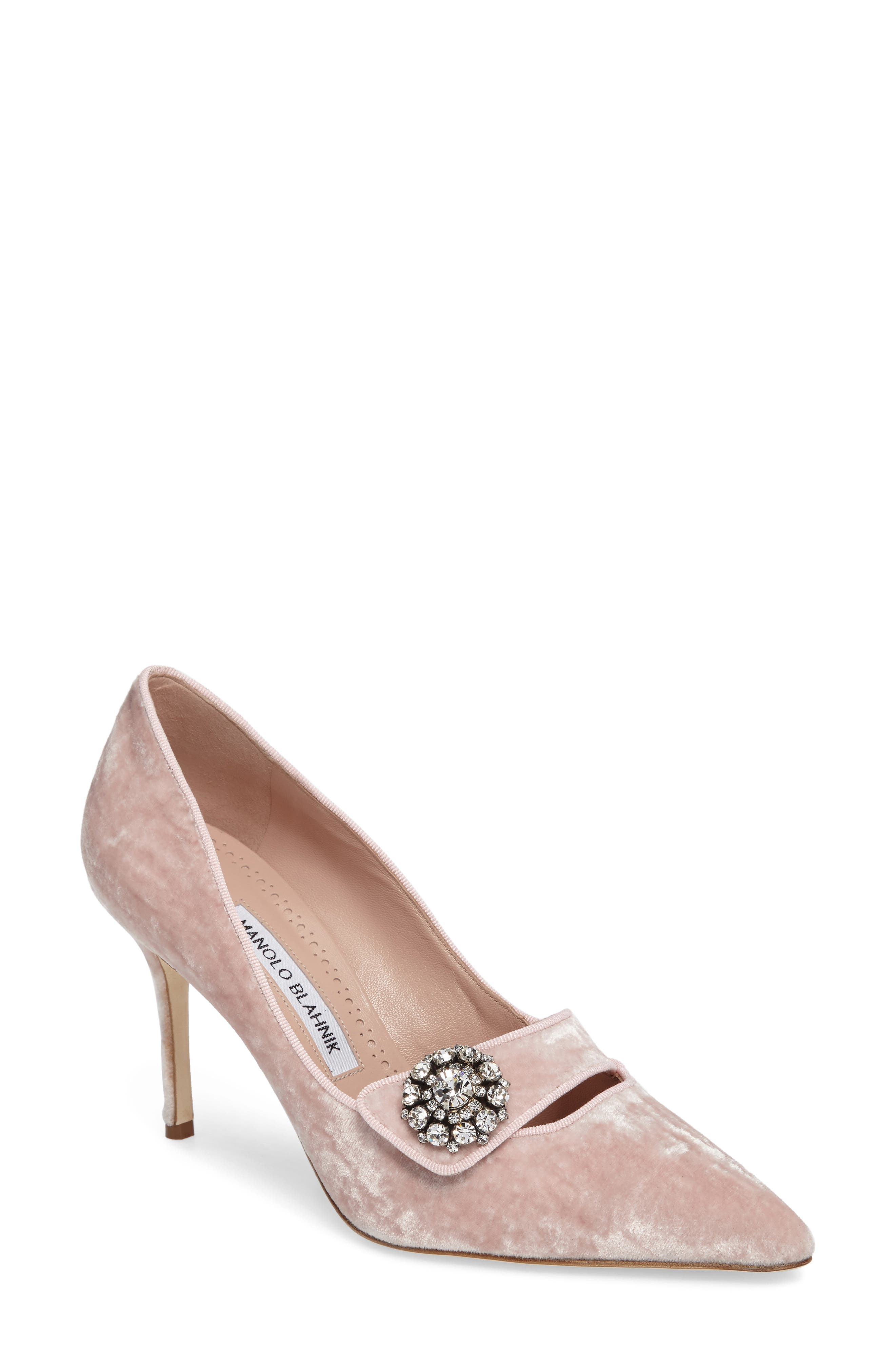 Decebalo Pump,                             Main thumbnail 1, color,                             Blush Velvet
