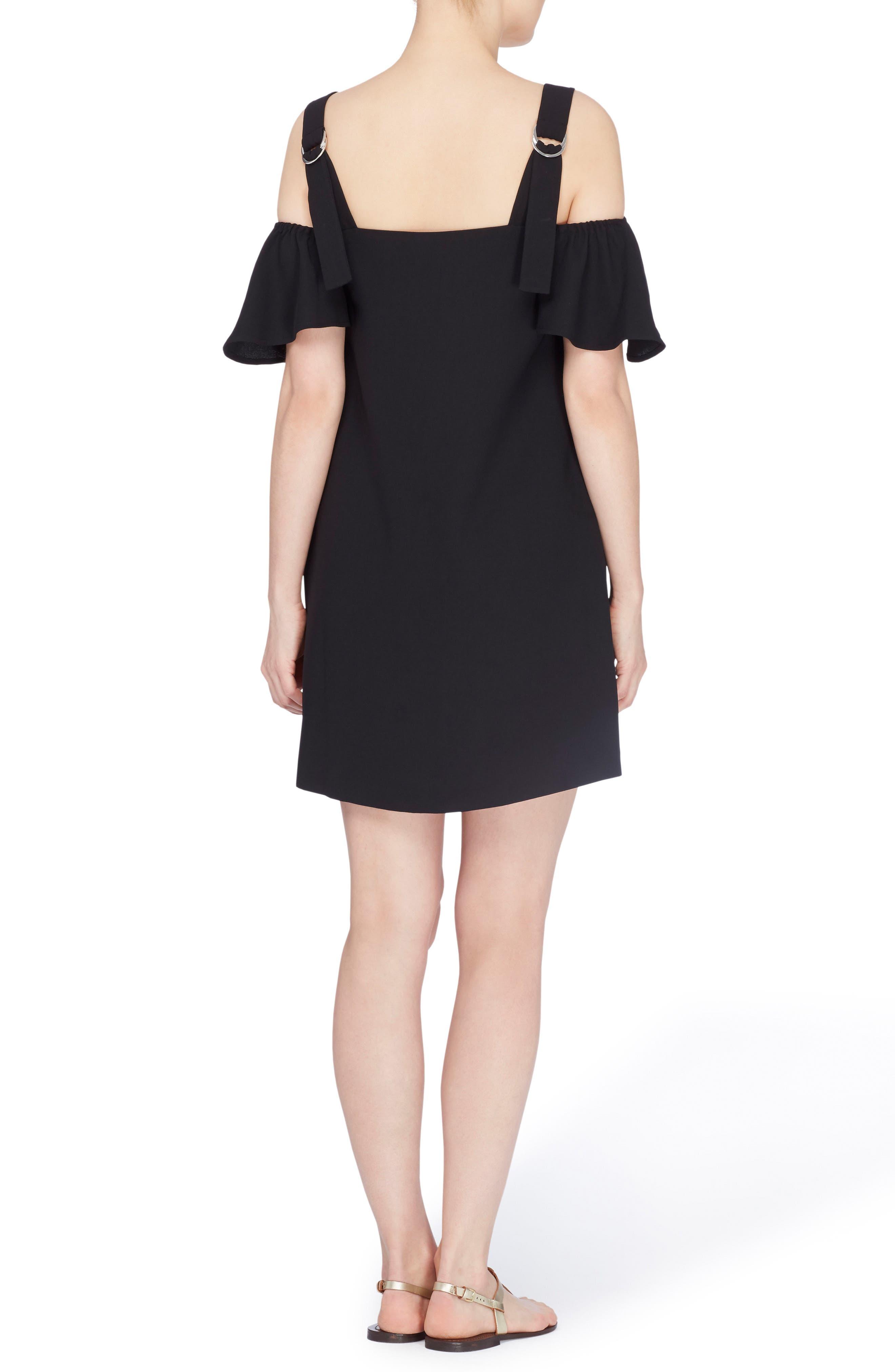 Hale Cold Shoulder Dress,                             Alternate thumbnail 2, color,                             Black Beauty