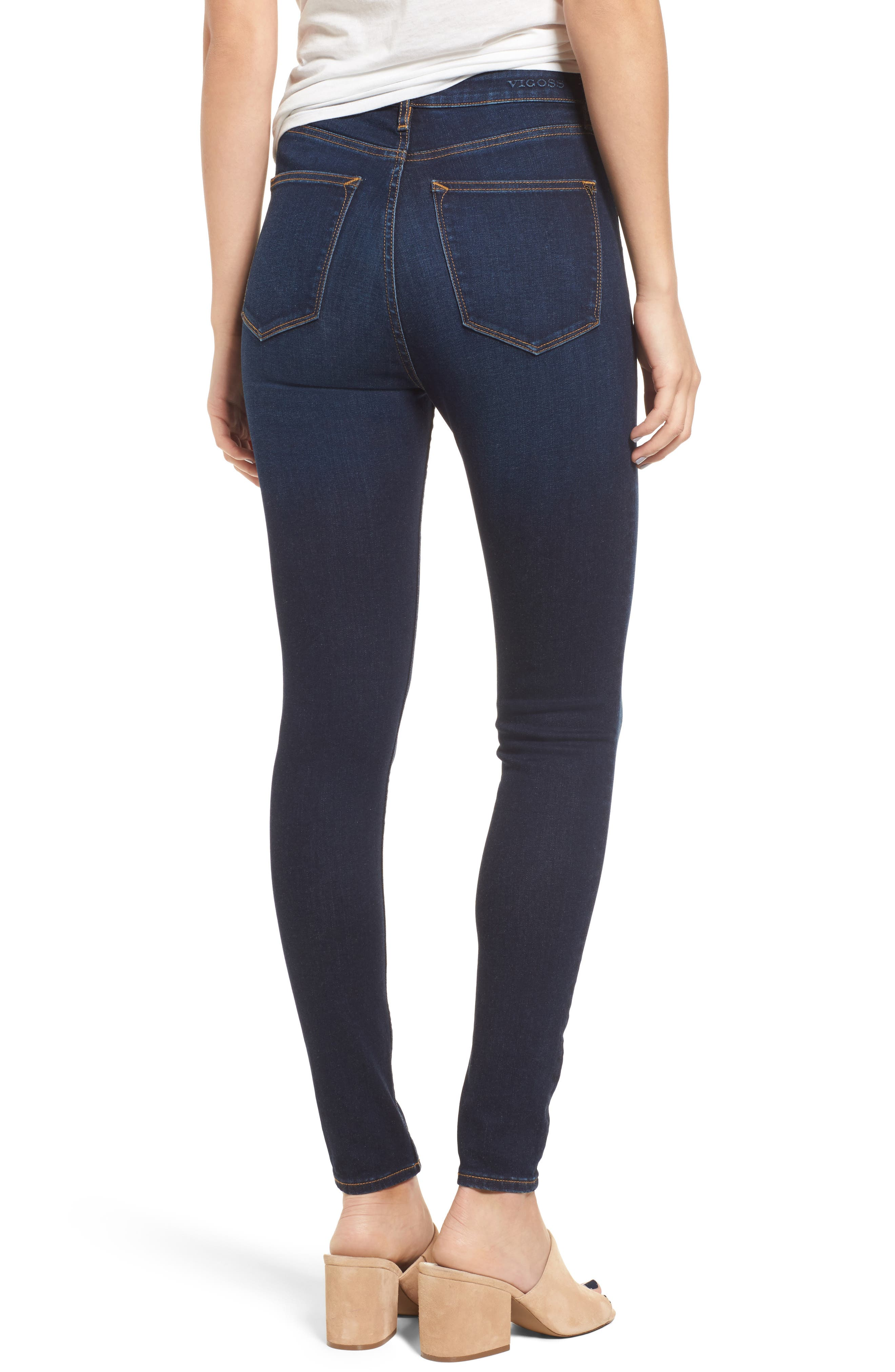 Alternate Image 2  - Vigoss Rebel High Rise Skinny Jeans