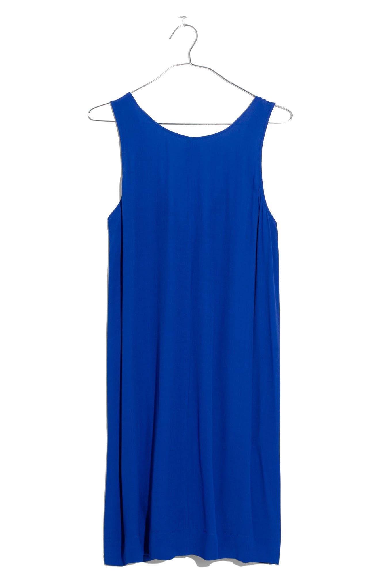 Lakeshore Button Back Dress,                             Alternate thumbnail 3, color,                             Brilliant Royal