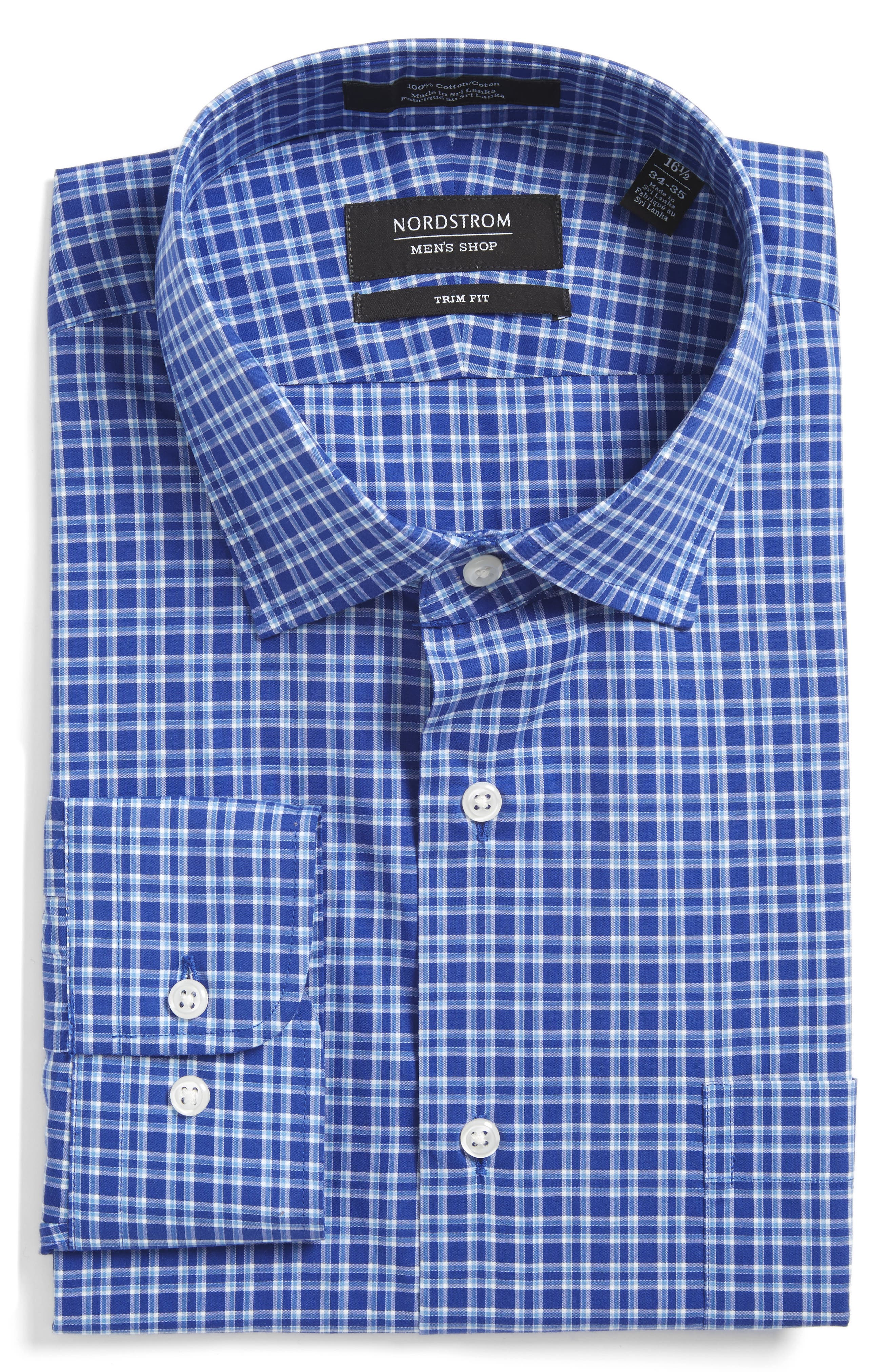 Nordstrom Men's Shop Trim Fit Check Dress Shirt