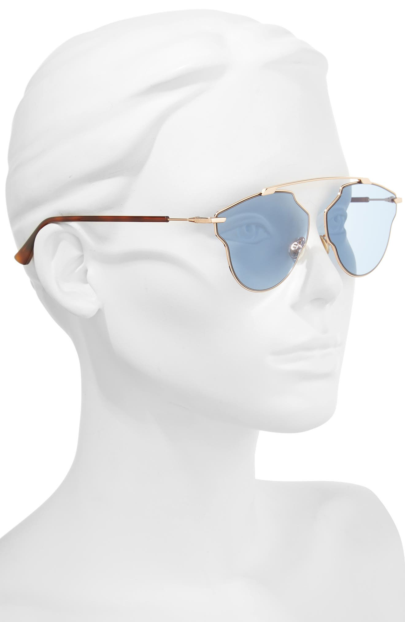 448 Dior 59mm Sunglasses,                             Alternate thumbnail 2, color,                             Gold/ Copper/ Blue