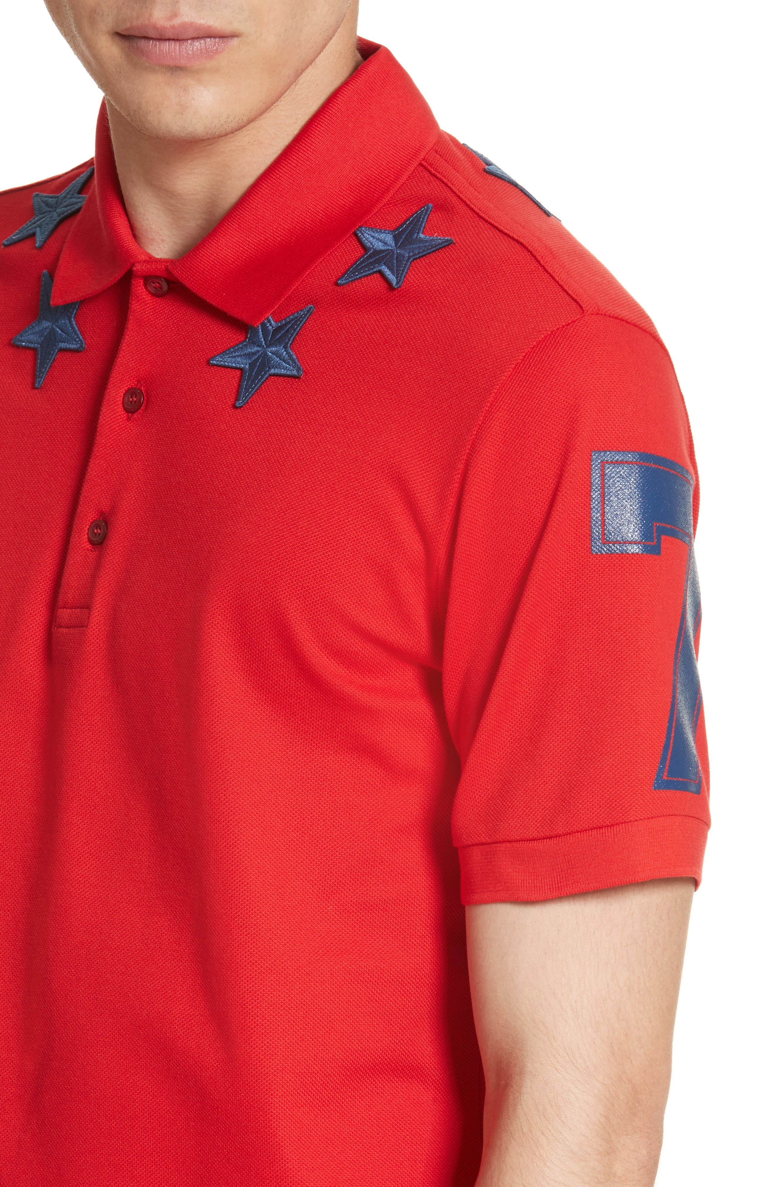 Star 74 Polo,                             Alternate thumbnail 4, color,                             Red
