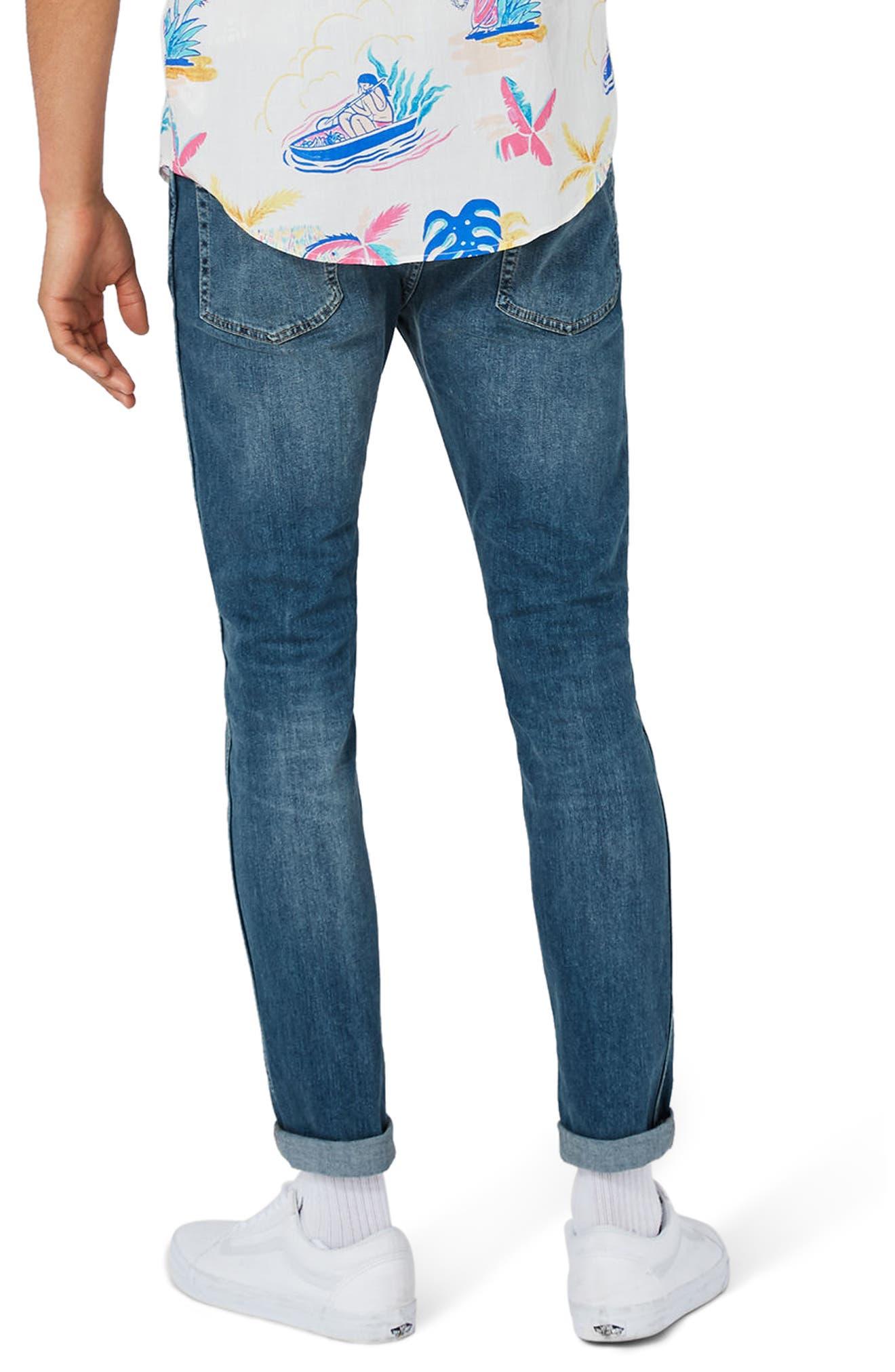 Alternate Image 3  - Topman Stretch Skinny Jeans