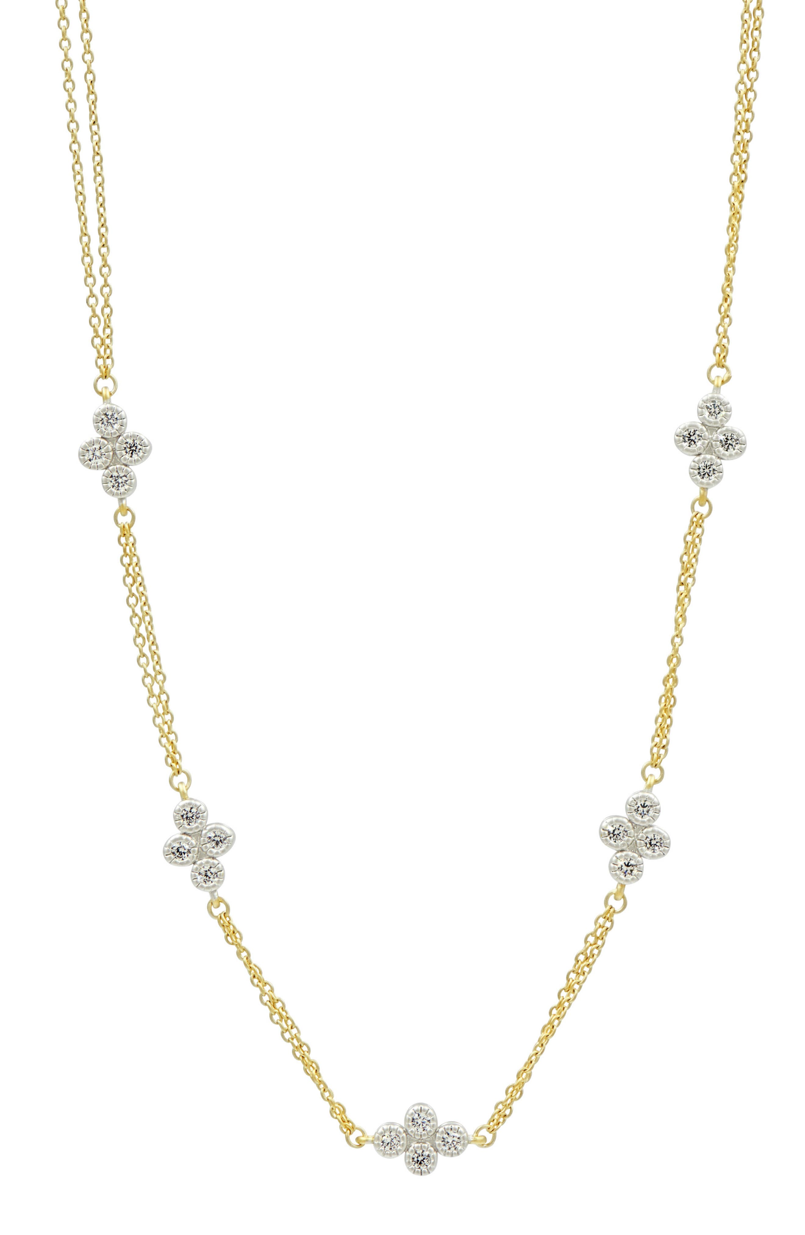 Visionary Fusion Strand Necklace,                         Main,                         color, Gold/ Silver