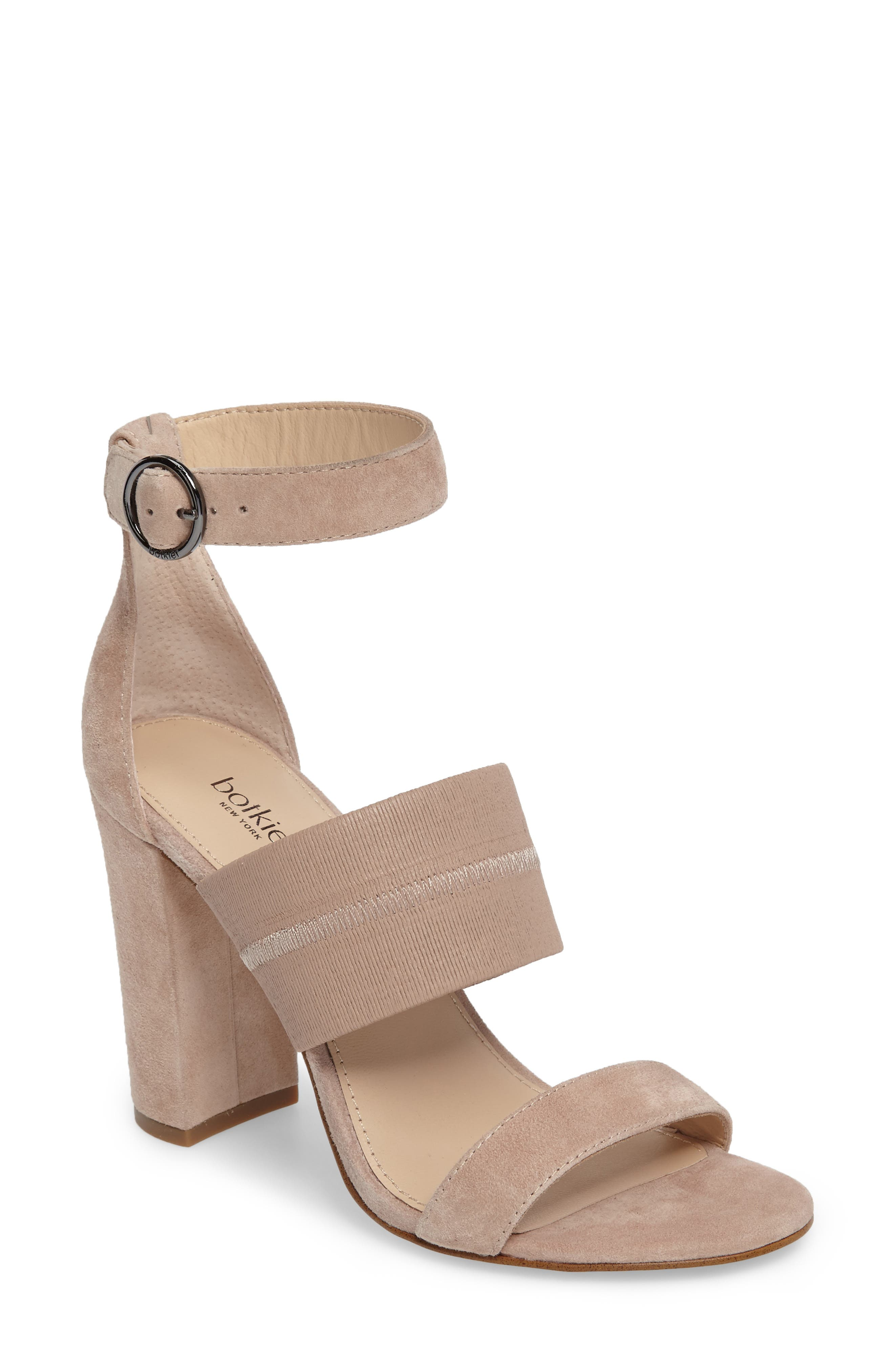Gisella Ankle Strap Sandal,                         Main,                         color, Blush Leather