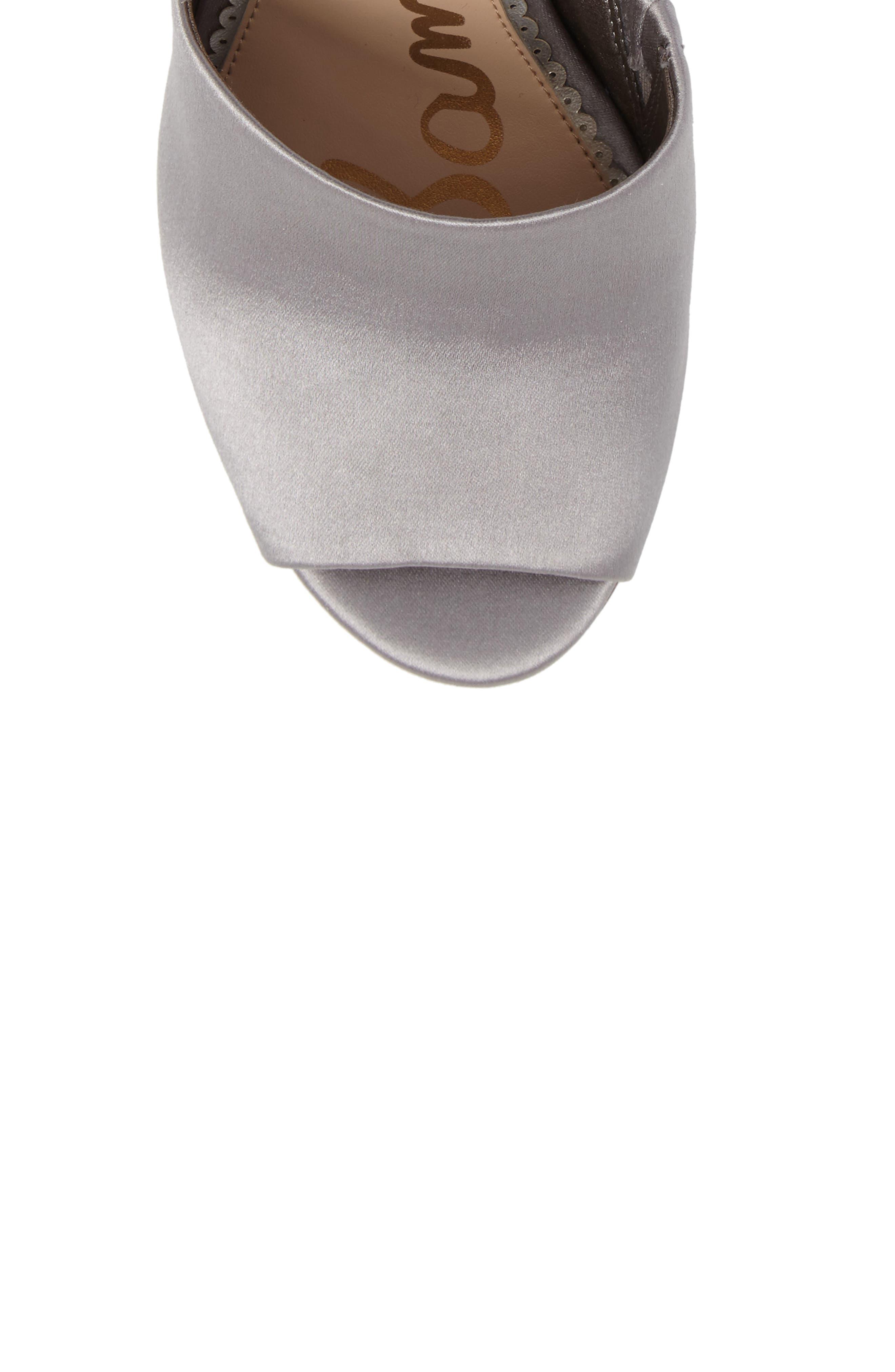 Odele Sandal,                             Alternate thumbnail 5, color,                             Light Grey Satin