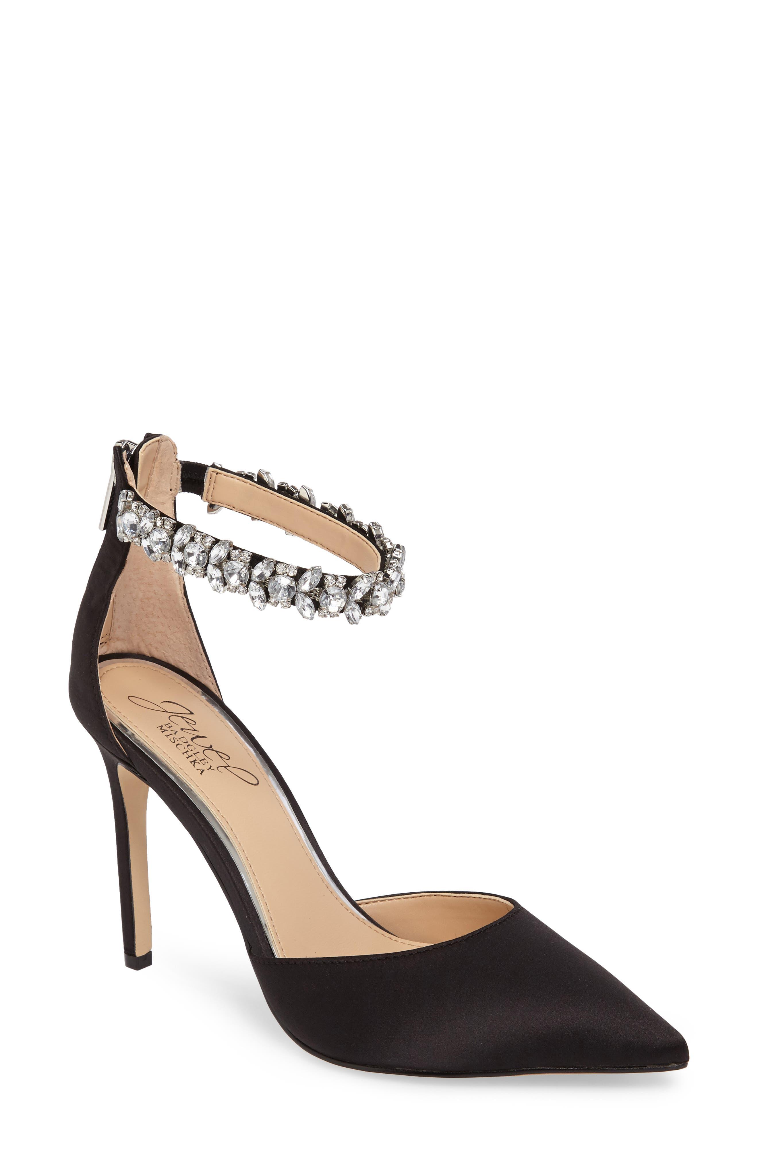 Alternate Image 1 Selected - Jewel Badgley Mischka Lizbeth Ankle Strap Pump (Women)