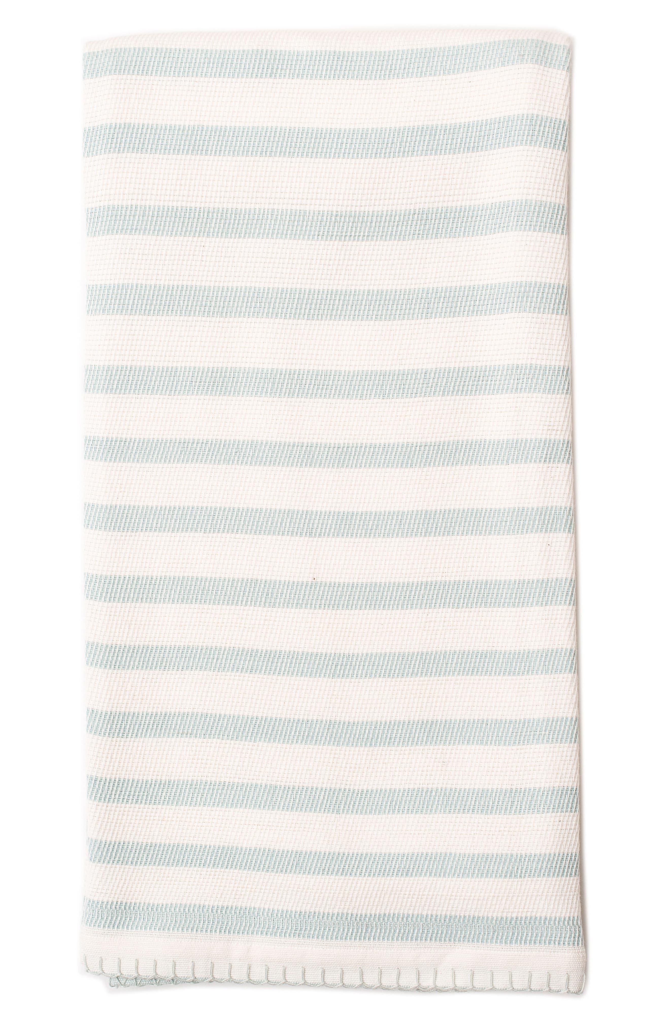 Alternate Image 1 Selected - Lil Lemon by zestt Classic Stripe Organic Cotton Blanket
