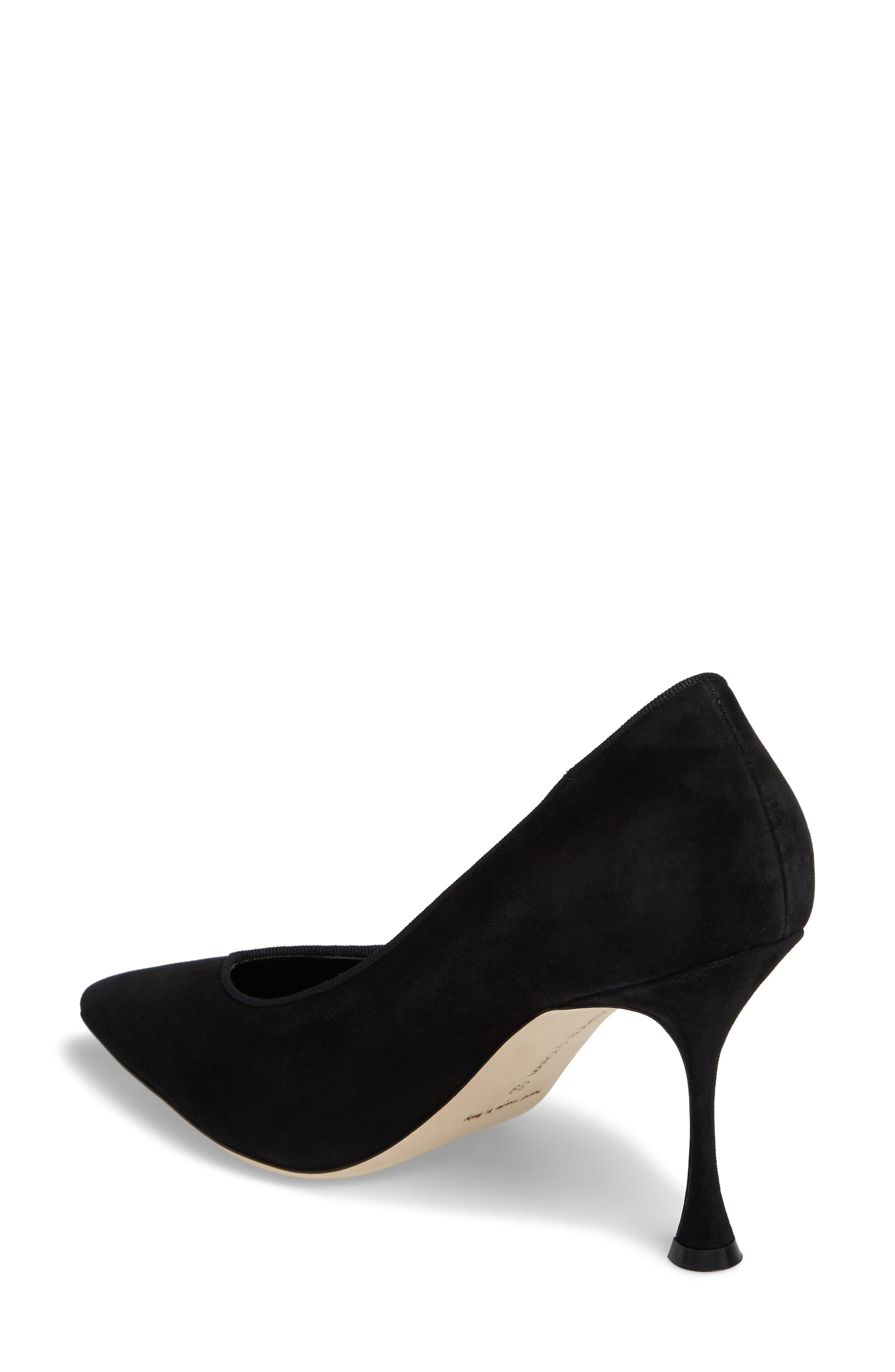 Urgenze Pointy Toe Pump,                             Alternate thumbnail 2, color,                             Black Suede
