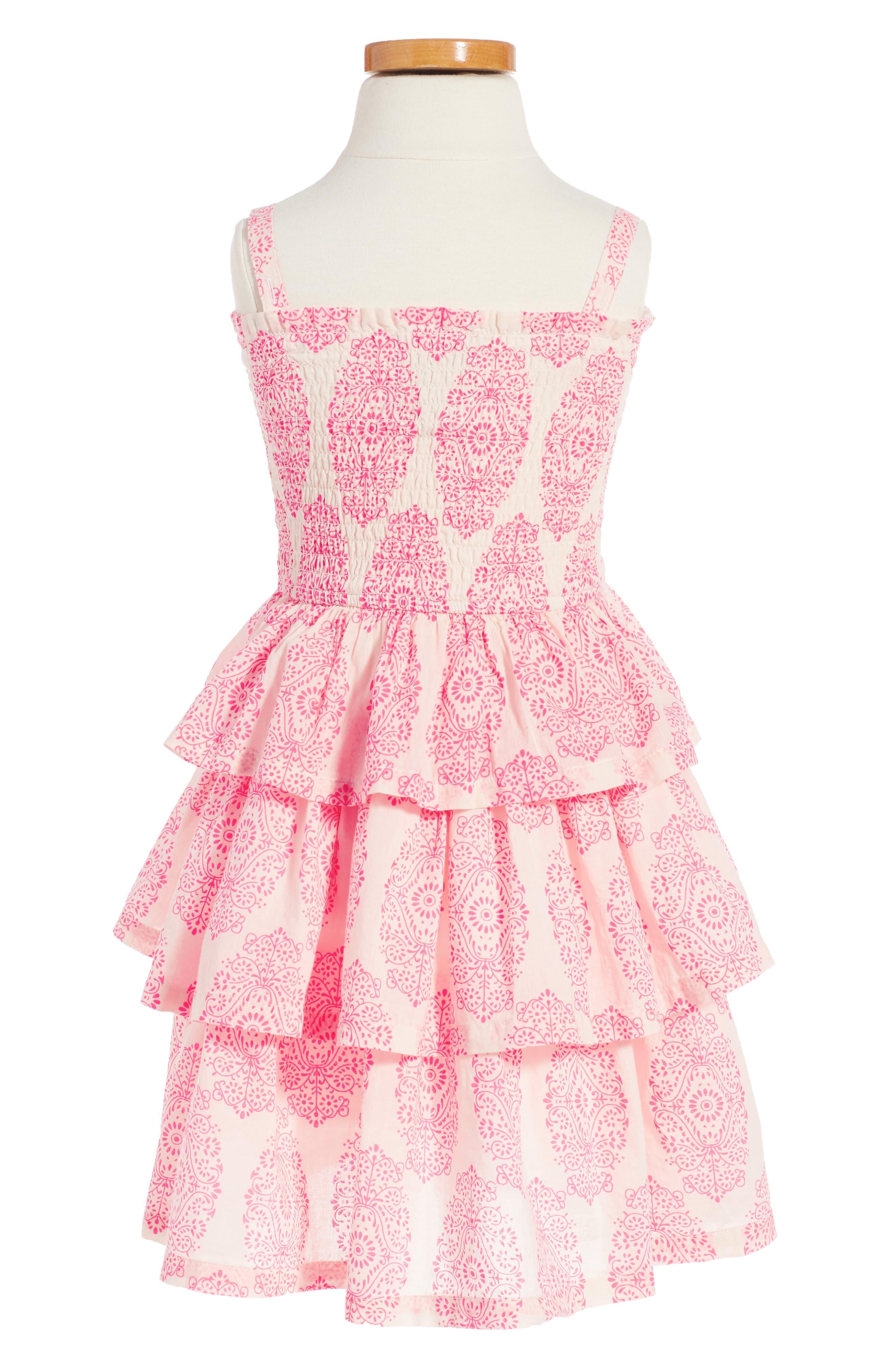Alternate Image 2  - Peek Sadie Print Smocked Sundress (Toddler Girls, Little Girls & Big Girls)
