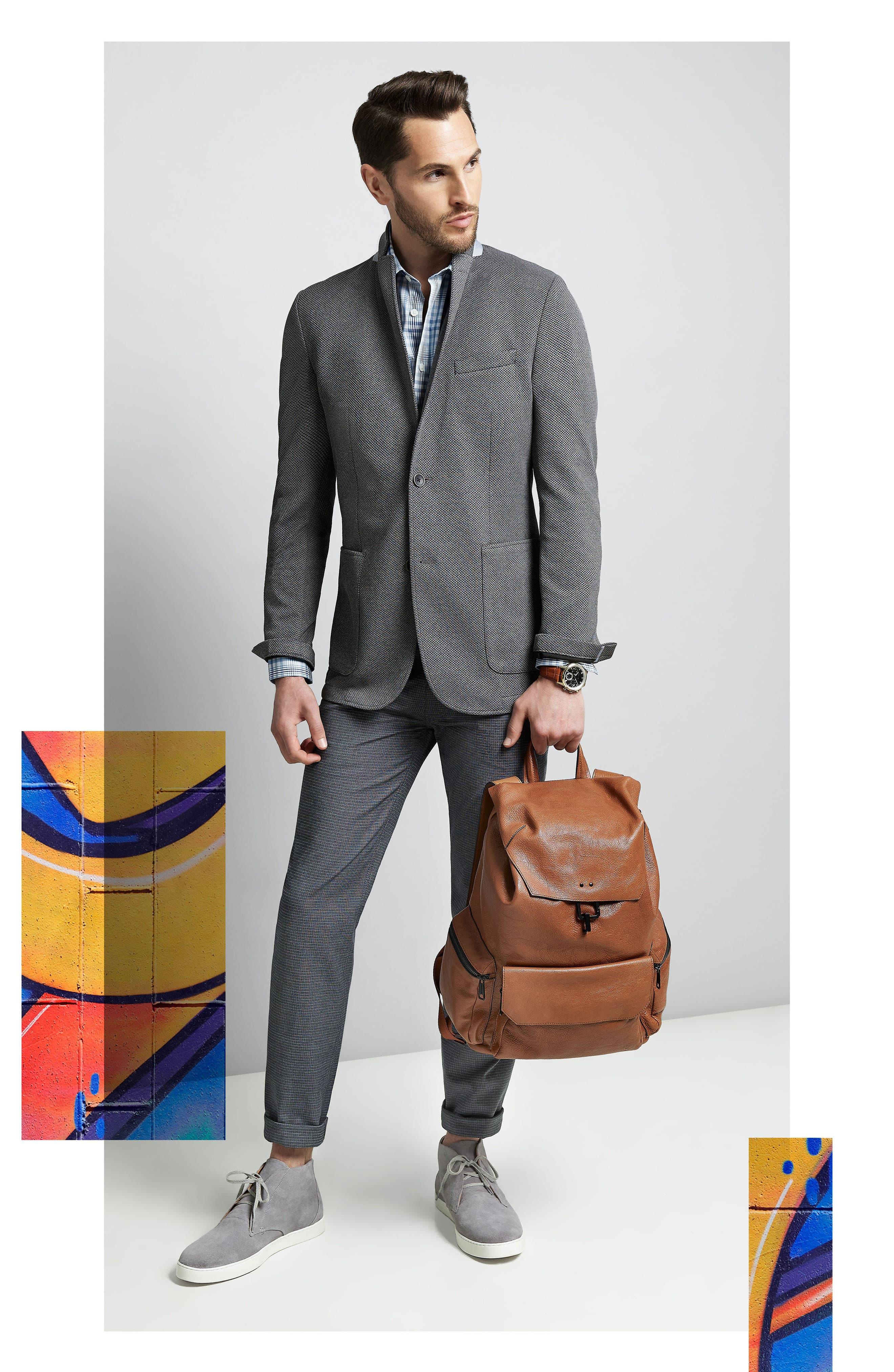 Alternate Image 6  - Vince Camuto Slim Fit Stretch Knit Blazer