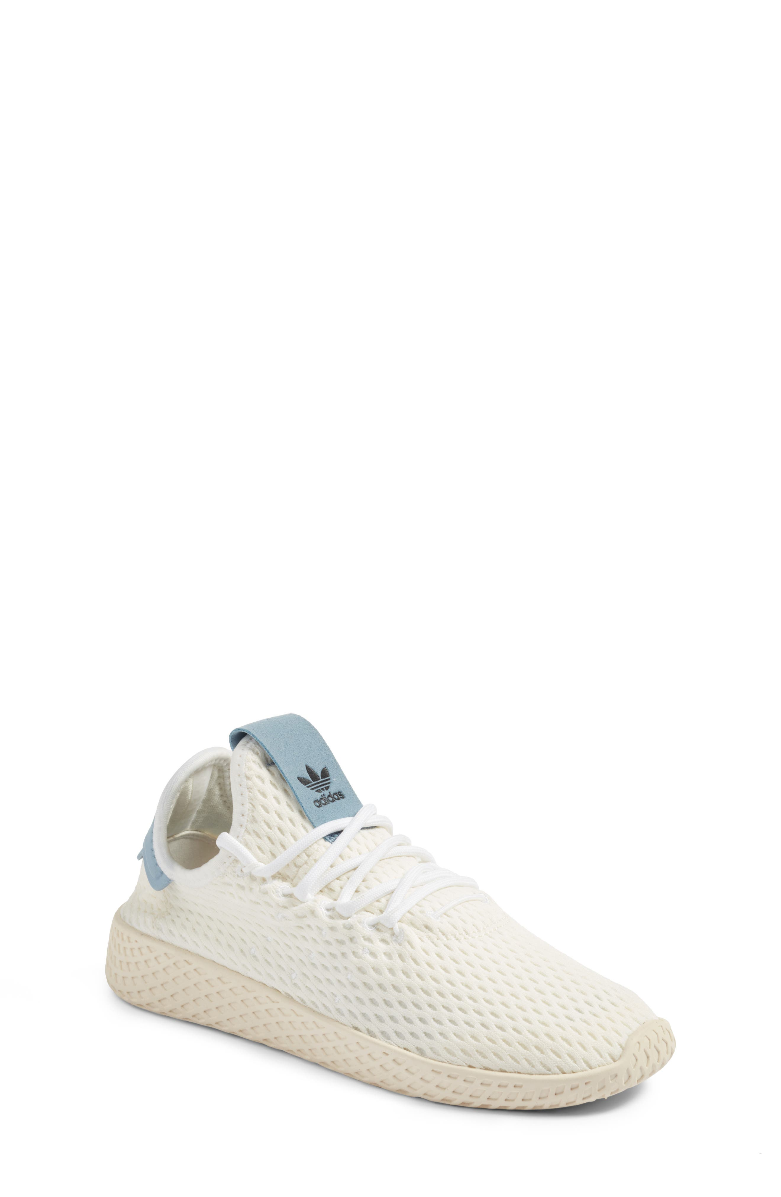 Originals x Pharrell Williams The Summers Mesh Sneaker,                             Main thumbnail 1, color,                             Footwear White/ Tactile Blue