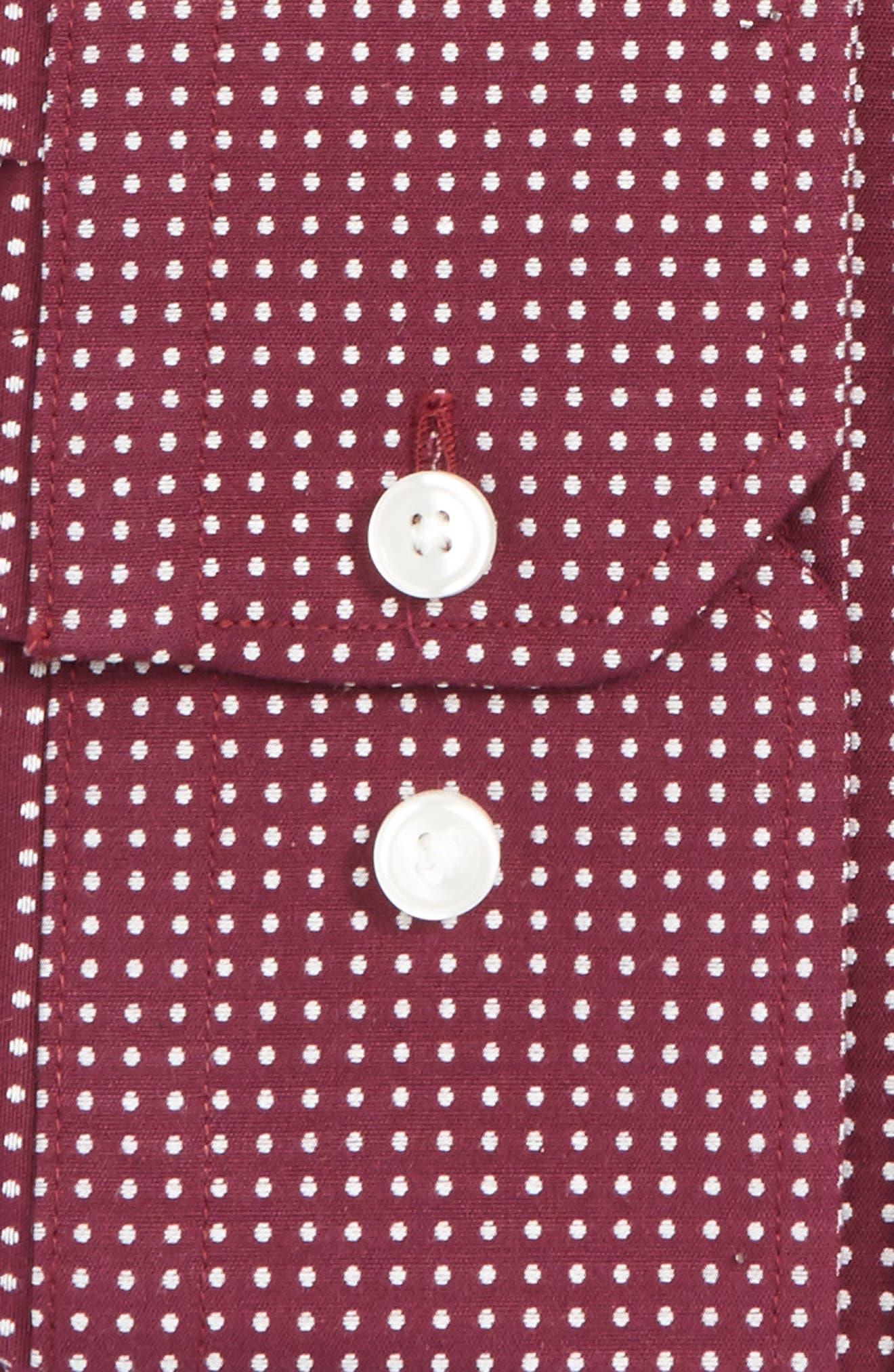 Alternate Image 2  - Calibrate Trim Fit Non-Iron Dot Stretch Dress Shirt