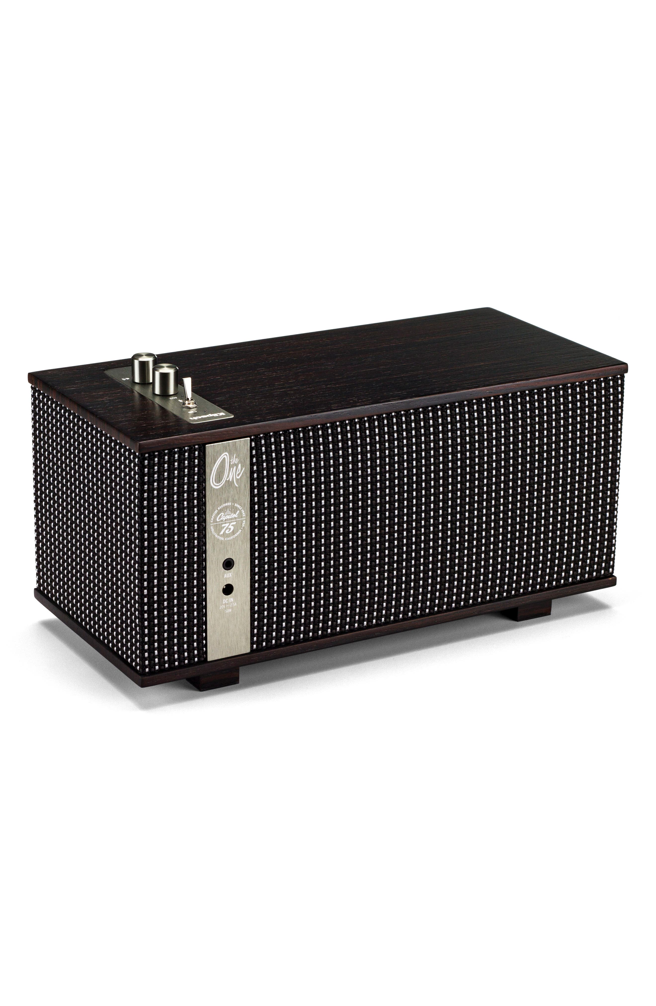 The Capitol One Bluetooth<sup>®</sup> Speaker,                             Alternate thumbnail 4, color,                             Ebony/ Silver