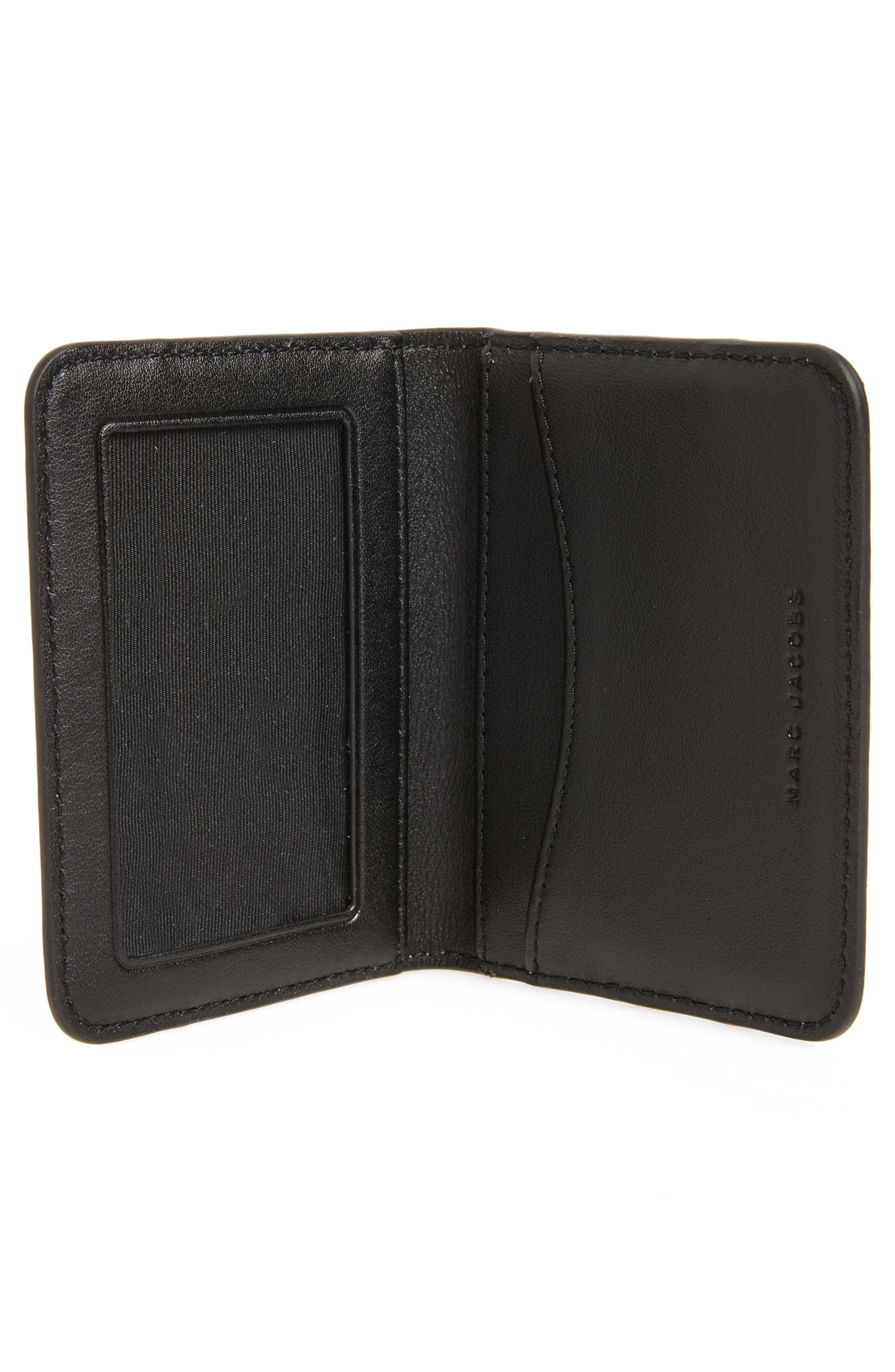 Color Block Saffiano Leather Business Card Case,                             Alternate thumbnail 2, color,                             Pale Pink Multi