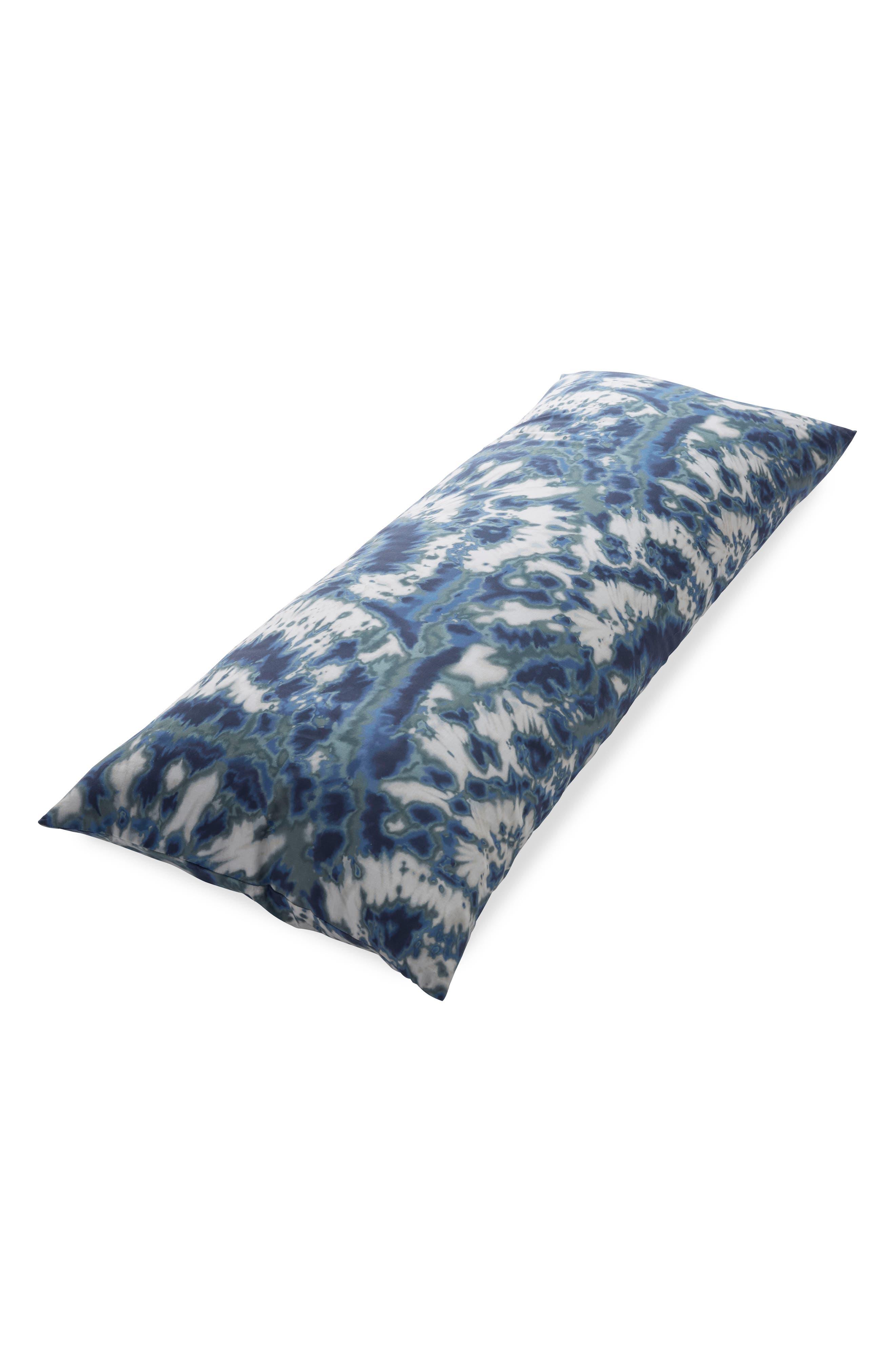 Pinwheel Body Pillow,                         Main,                         color, Blue