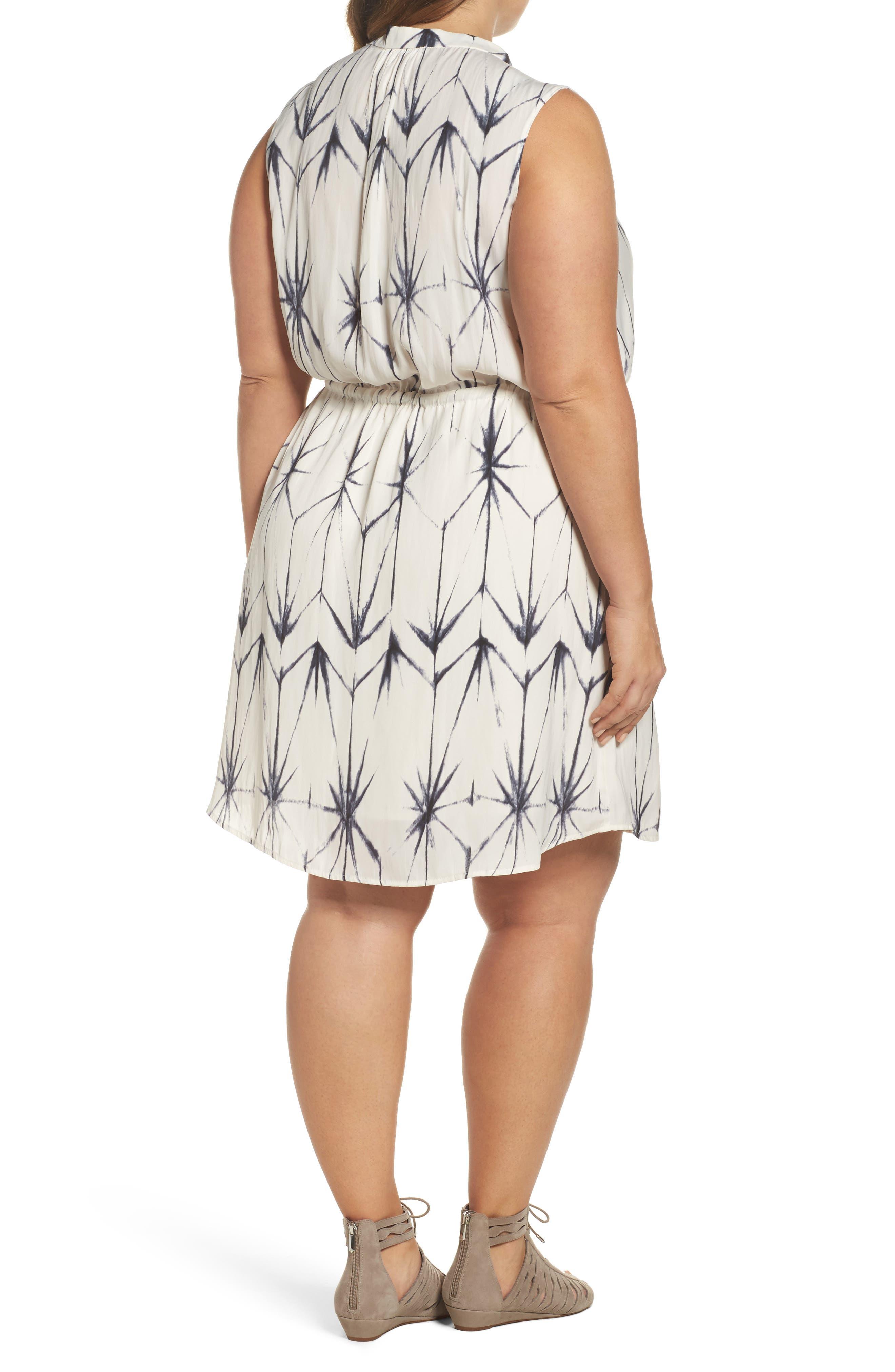 Calla Blouson Dress,                             Alternate thumbnail 2, color,                             Folded Shibori