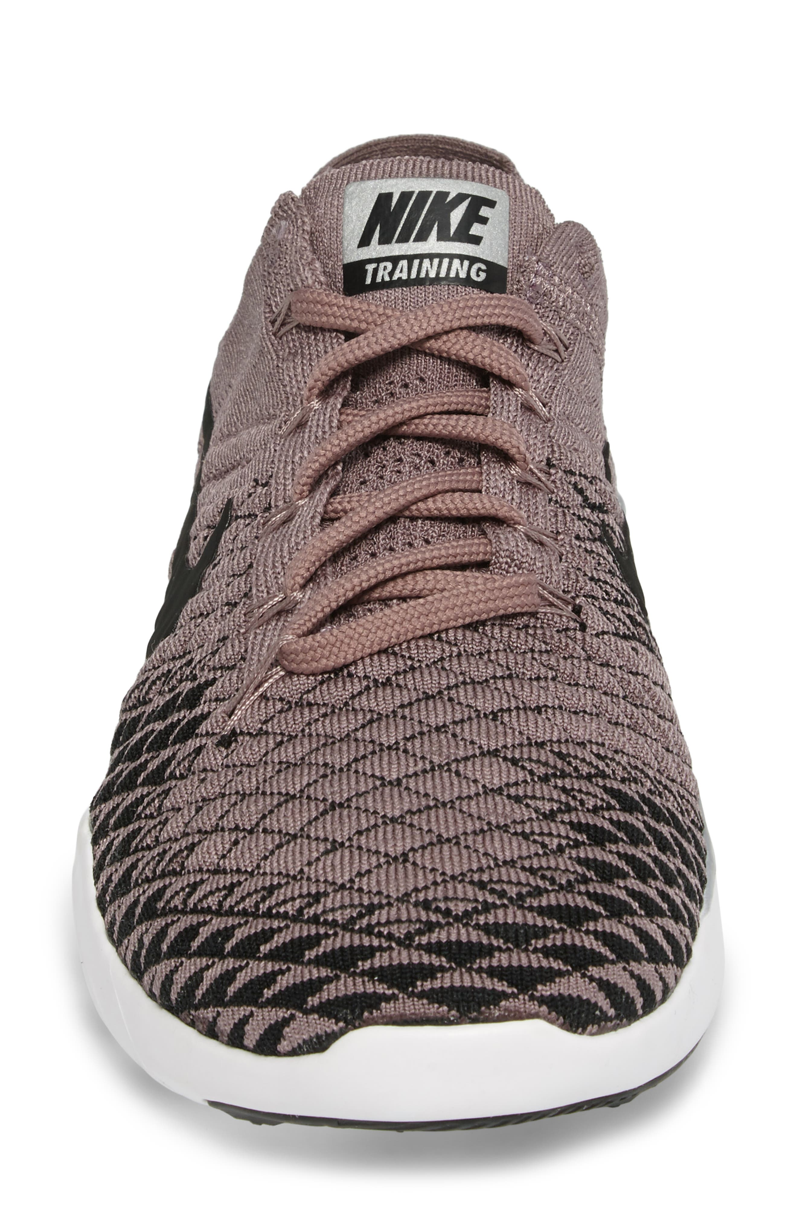 Free Focus Flyknit 2 Bionic Training Shoe,                             Alternate thumbnail 5, color,                             Taupe Grey/ Black/ Chrome