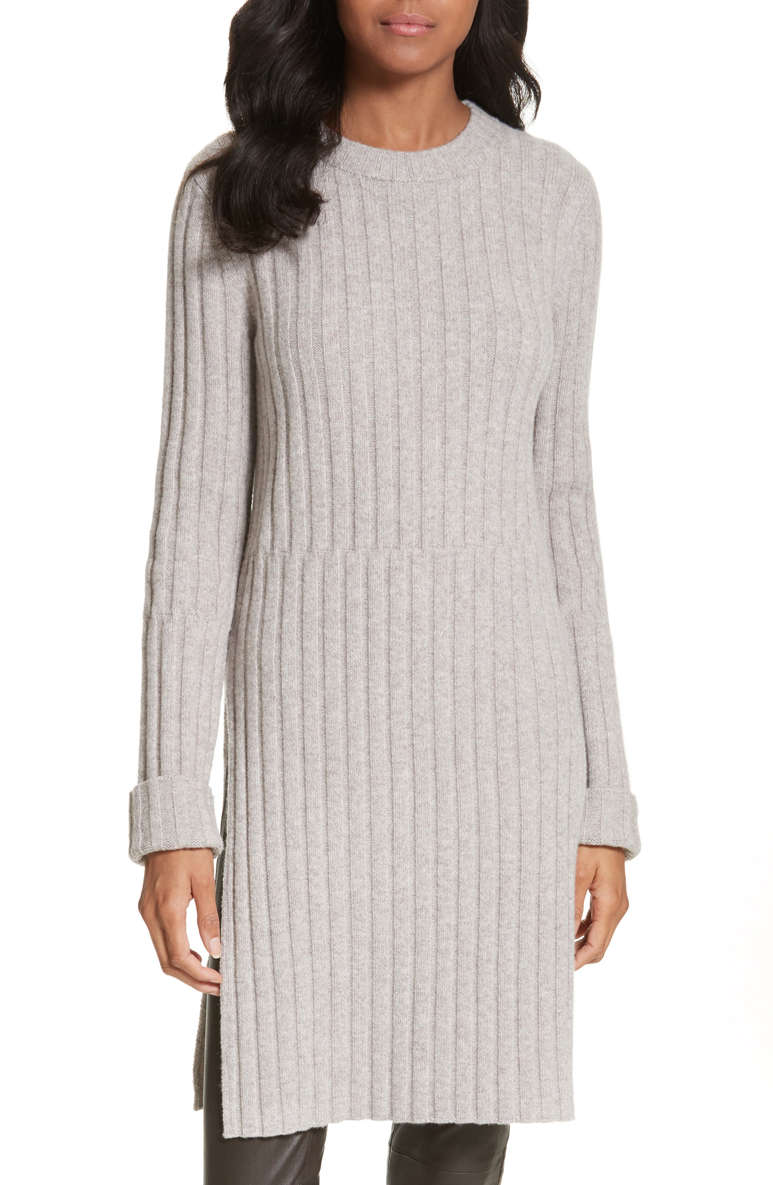 JOSEPH Side Slit Ribbed Wool Blend Tunic