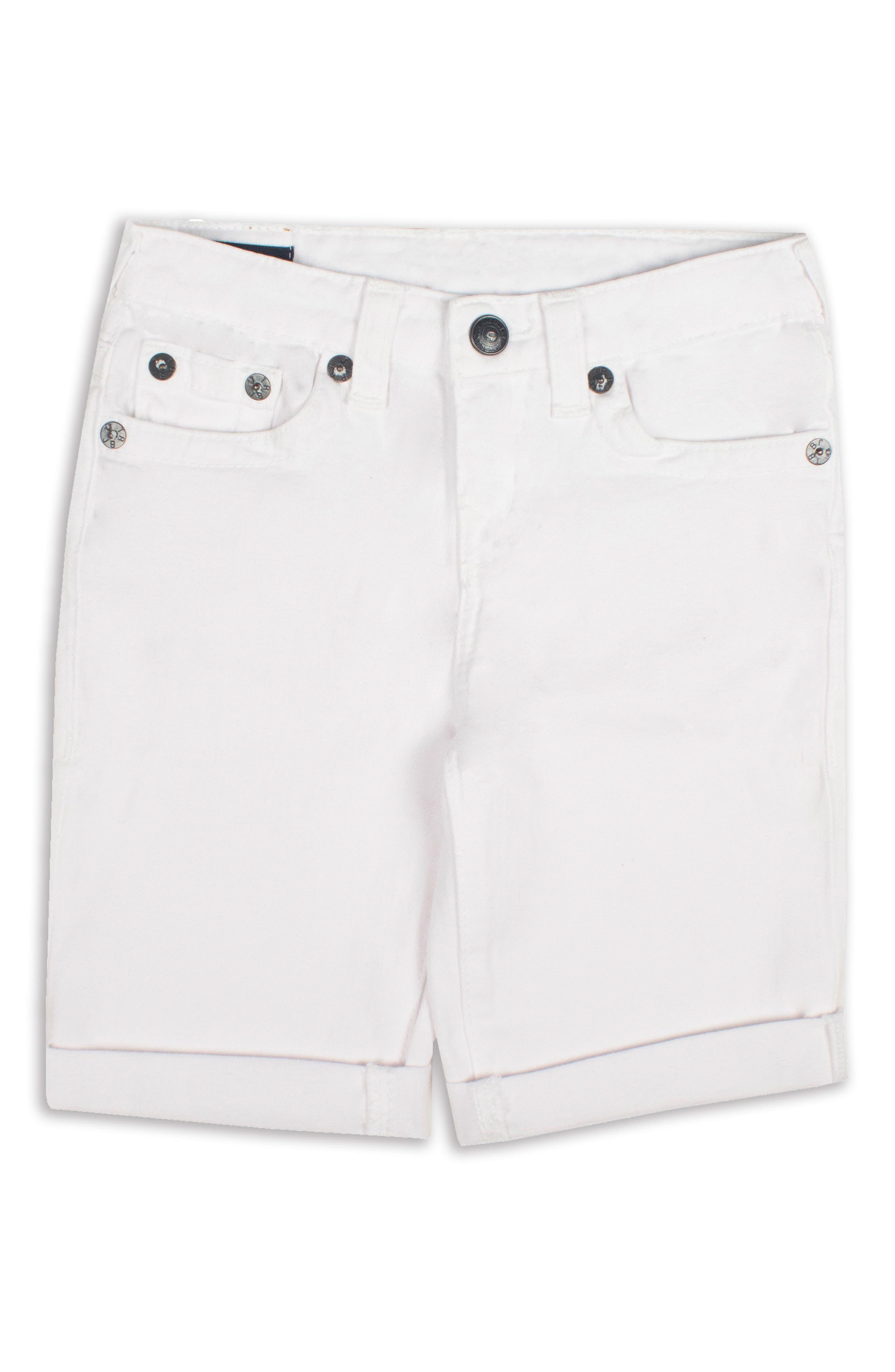 Geno Denim Shorts,                             Main thumbnail 1, color,                             White