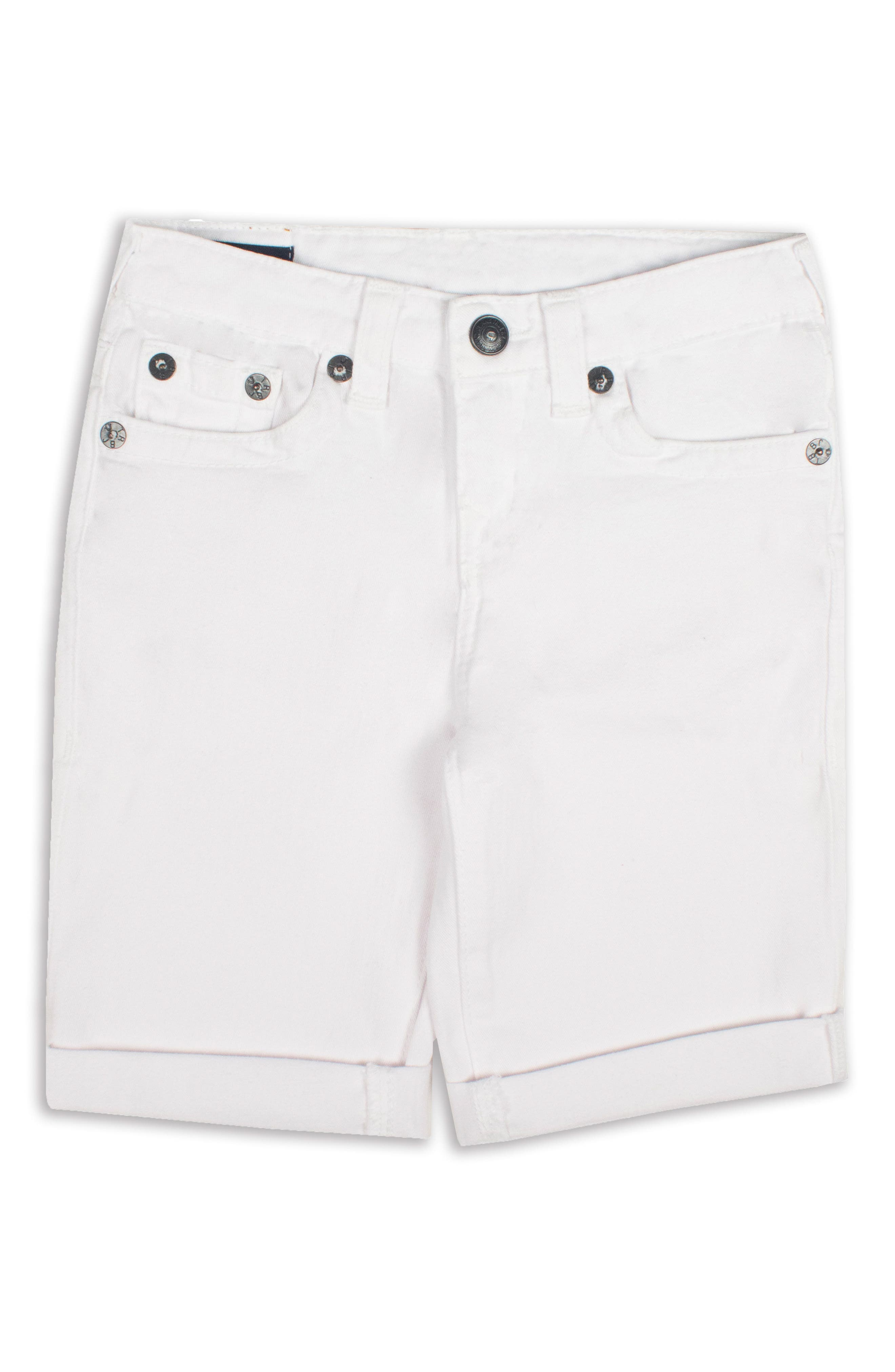Geno Denim Shorts,                         Main,                         color, White