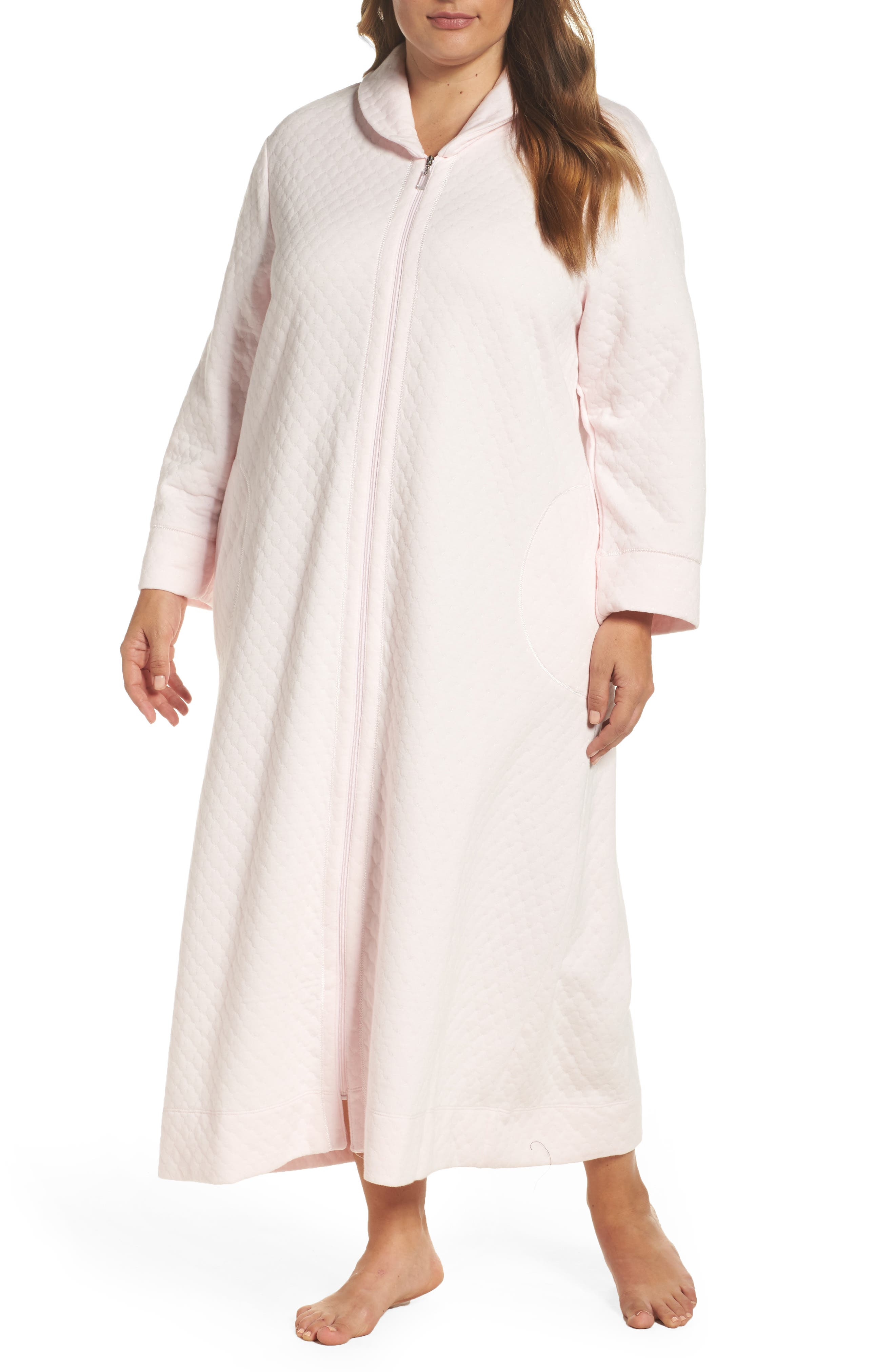 Carole Hochman Quilted Zip Robe (Plus Size)
