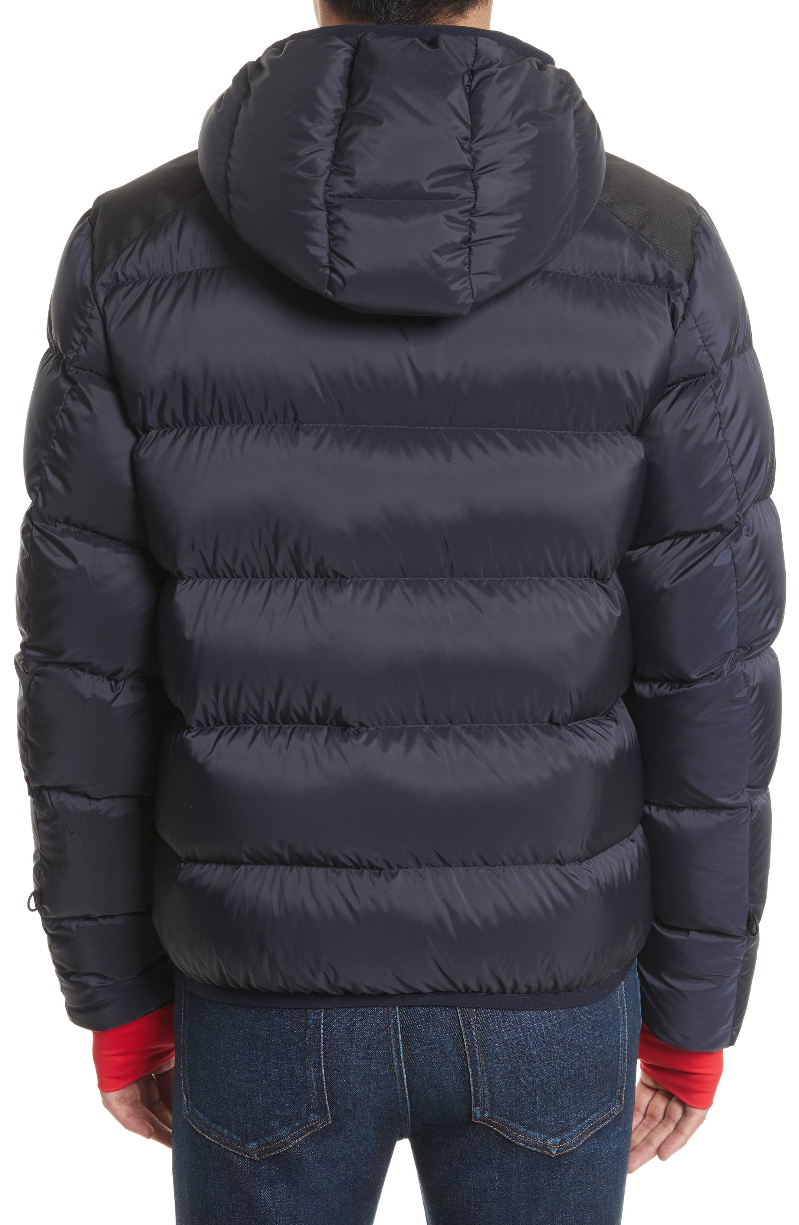 Grenoble Hintertux Hooded Down Jacket,                             Alternate thumbnail 2, color,                             Navy/ Red