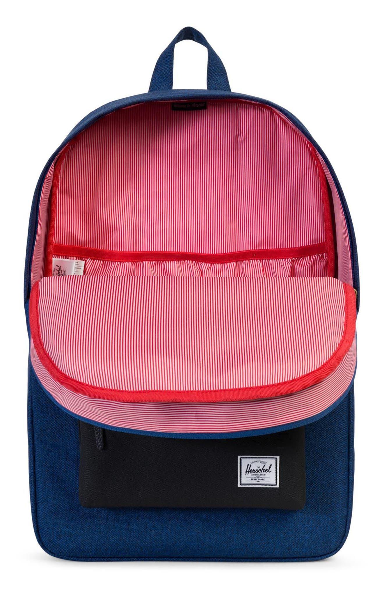 Heritage Backpack,                             Alternate thumbnail 4, color,                             Eclipse Crosshatch/ Black