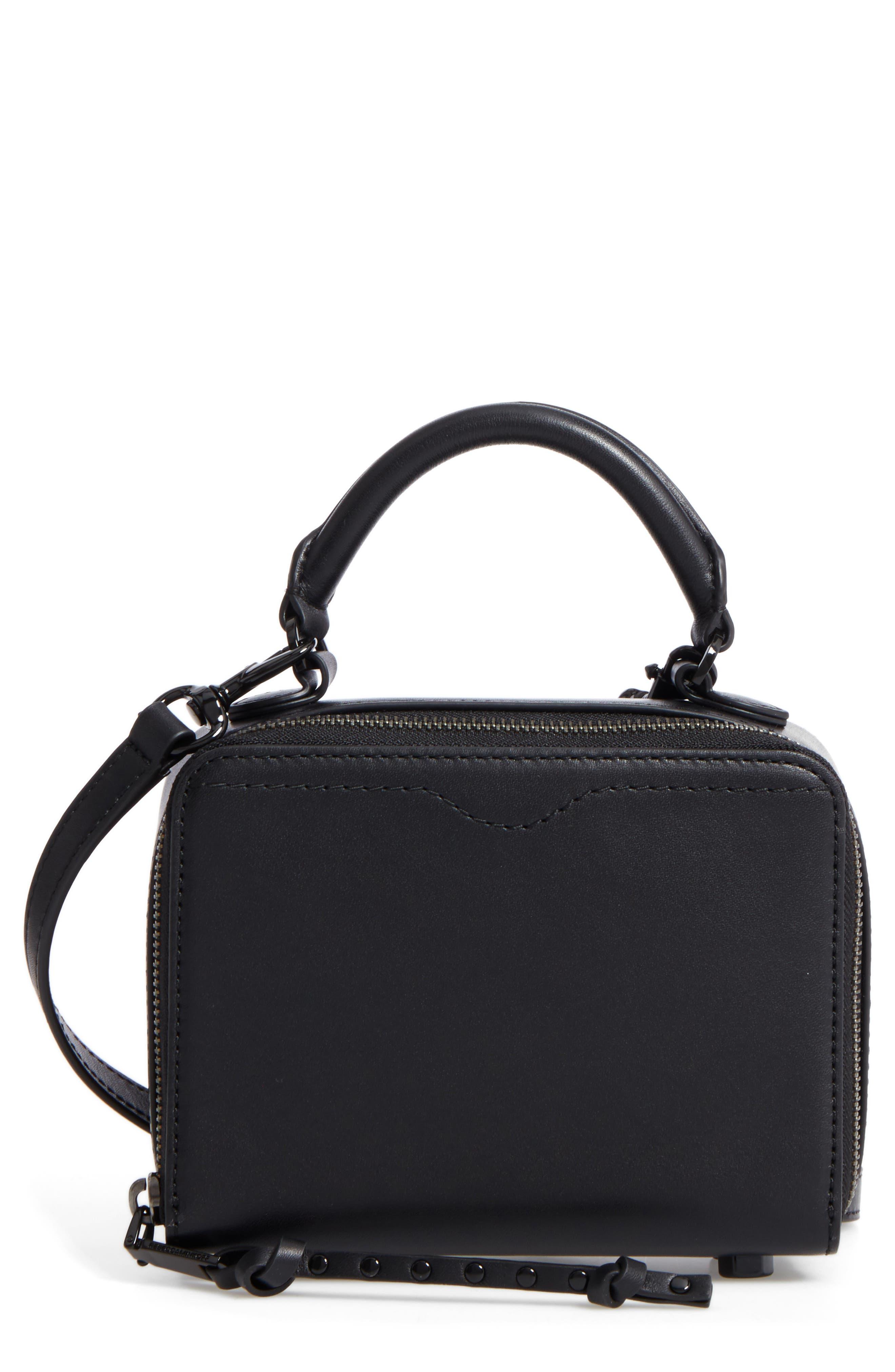REBECCA MINKOFF Box Leather Crossbody Bag