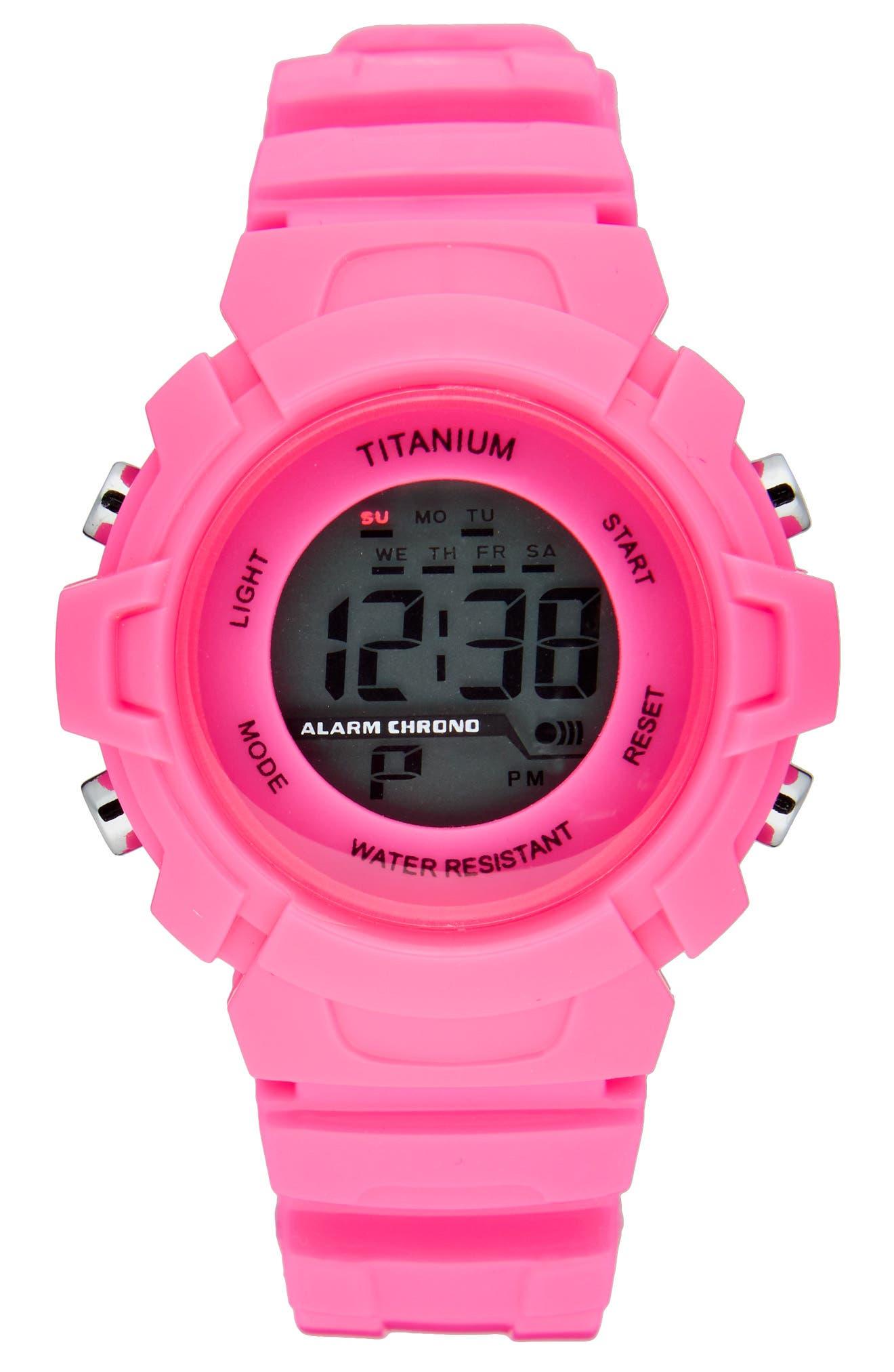 Titanium LCD Waterproof Sport Watch (Kids)