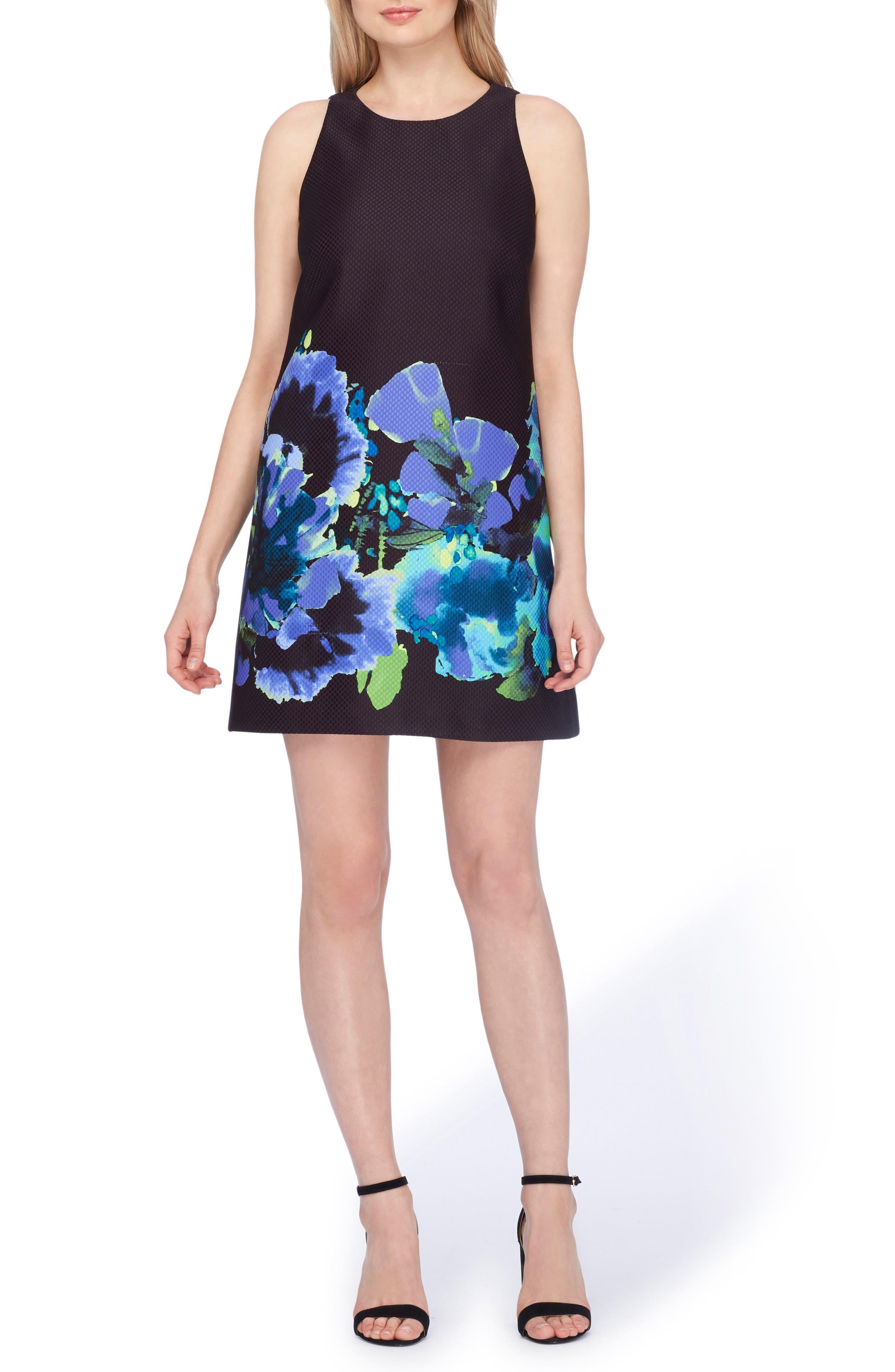 Tahari Floral Trapeze Dress (Regular & Petite)