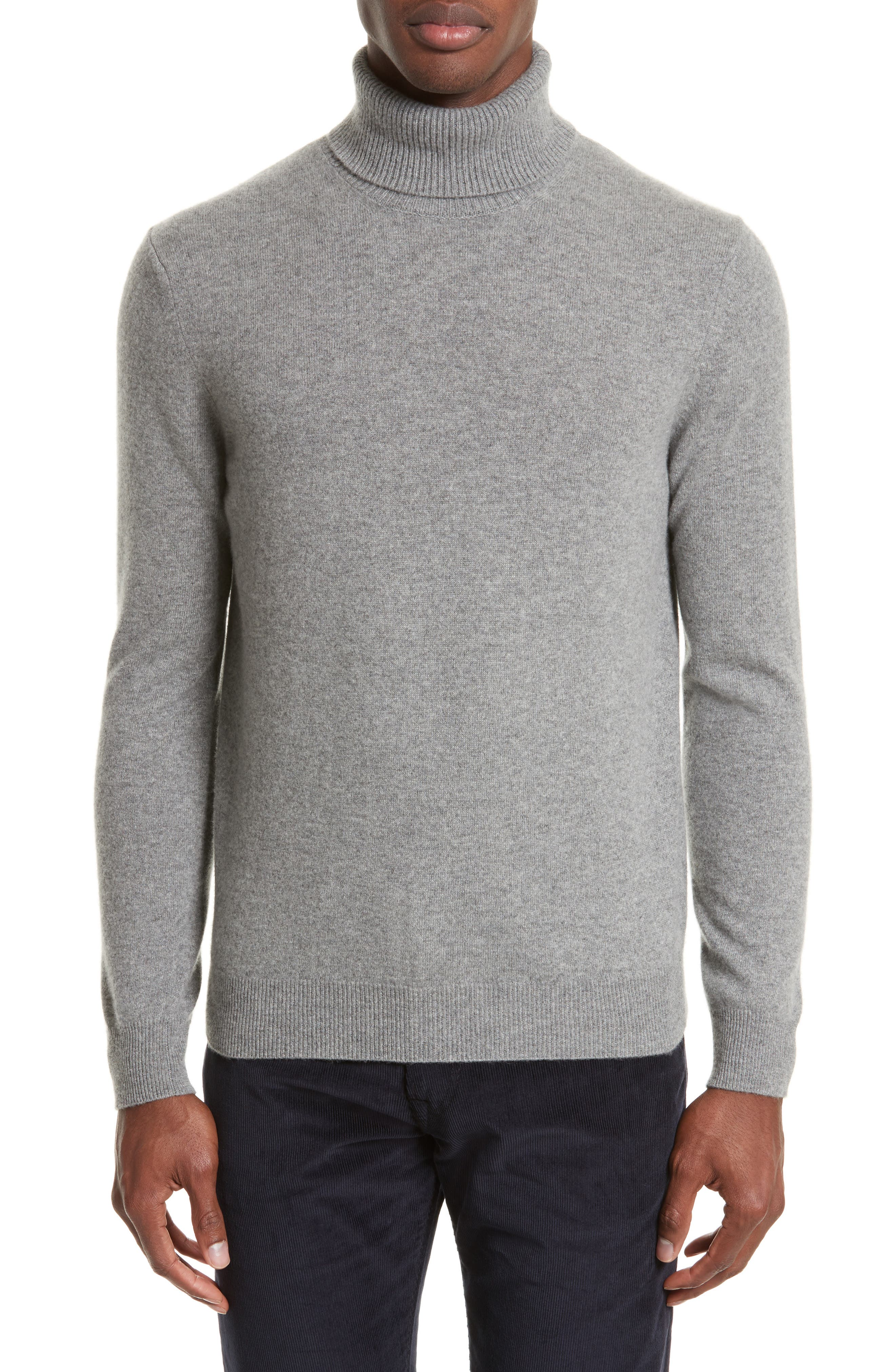 Turtleneck Sweater,                         Main,                         color, Grey