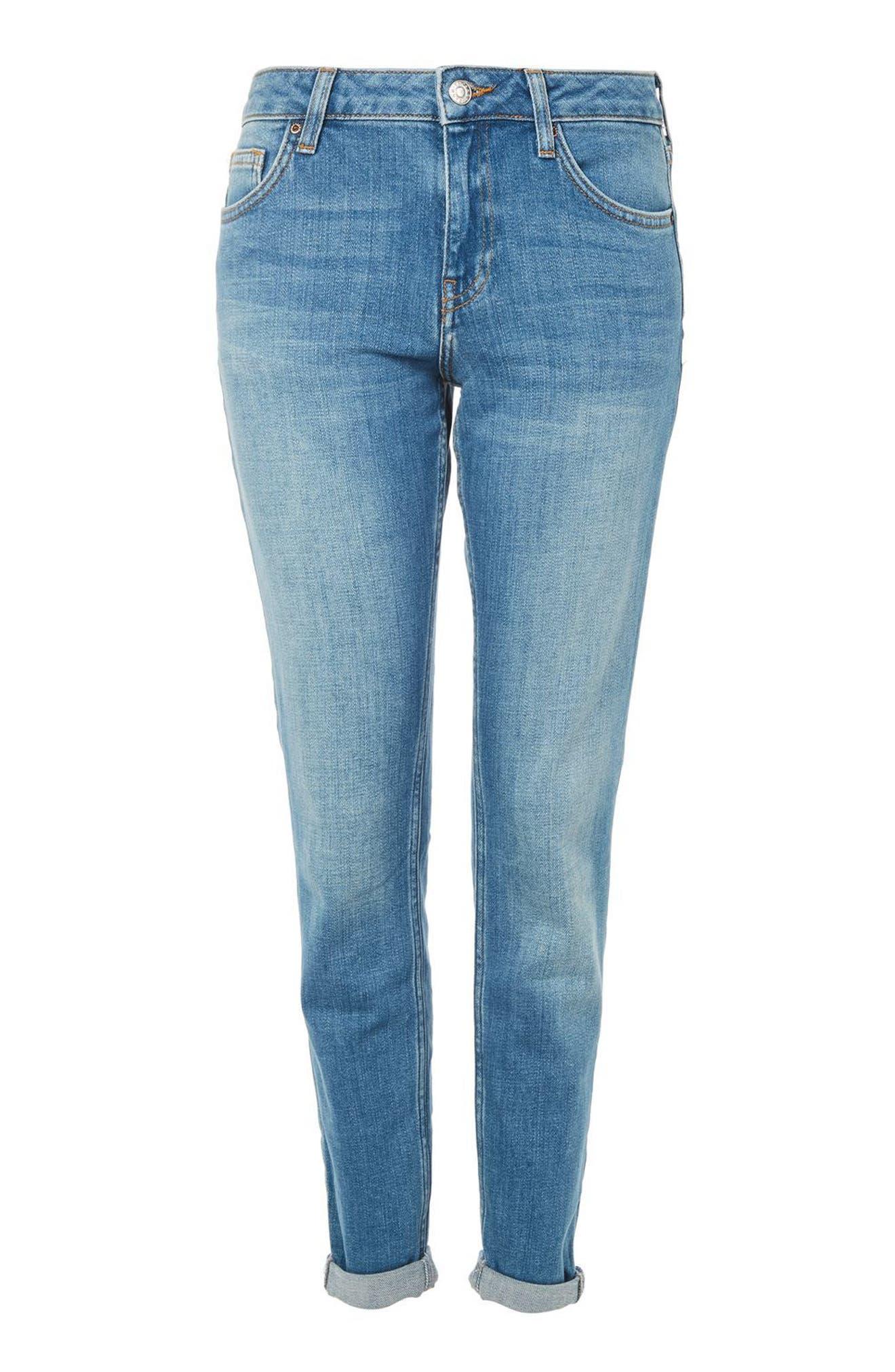 Main Image - Topshop Lucas Boyfriend Jeans