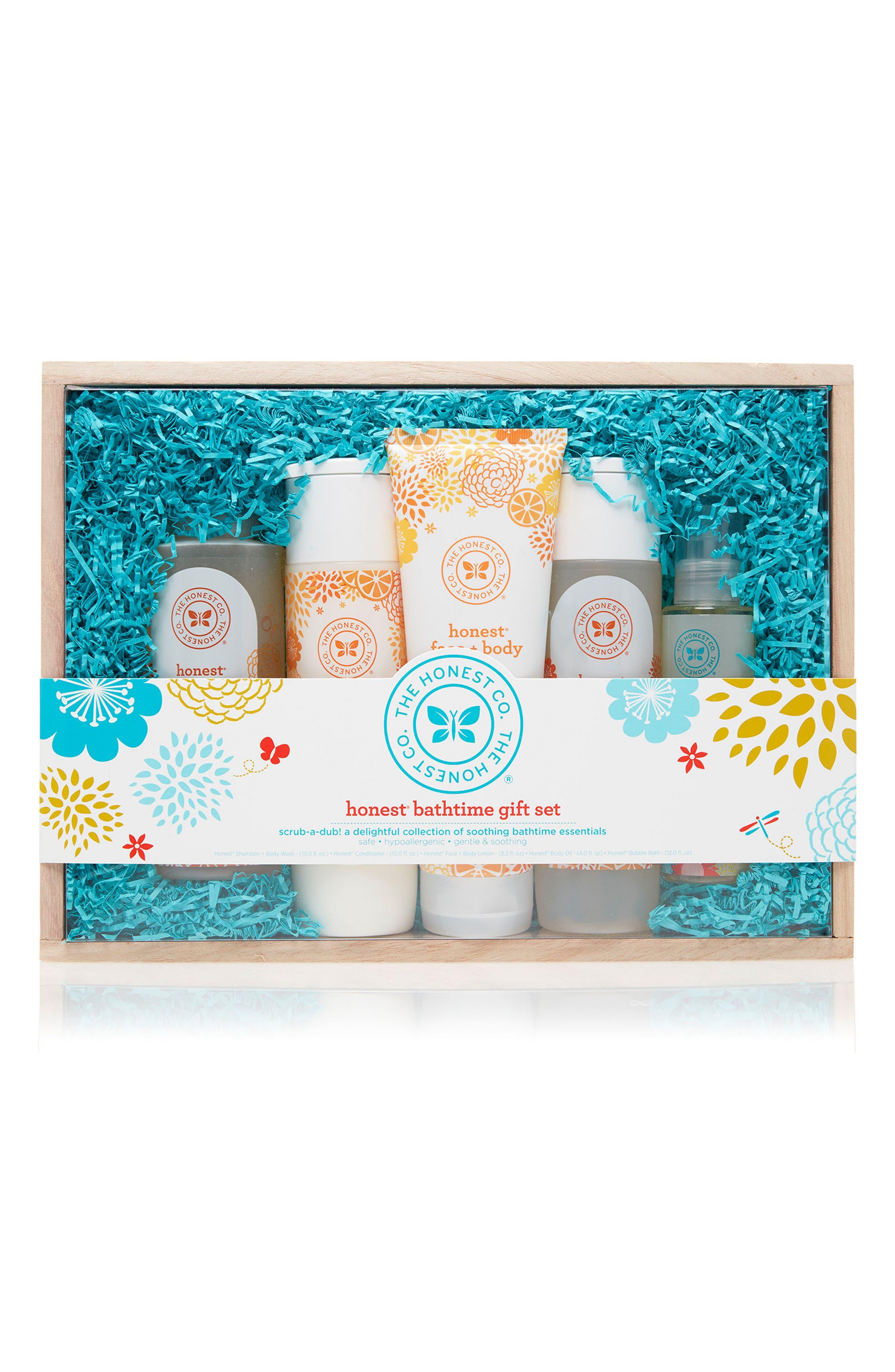 Bath Time Gift Set,                         Main,                         color, Blue