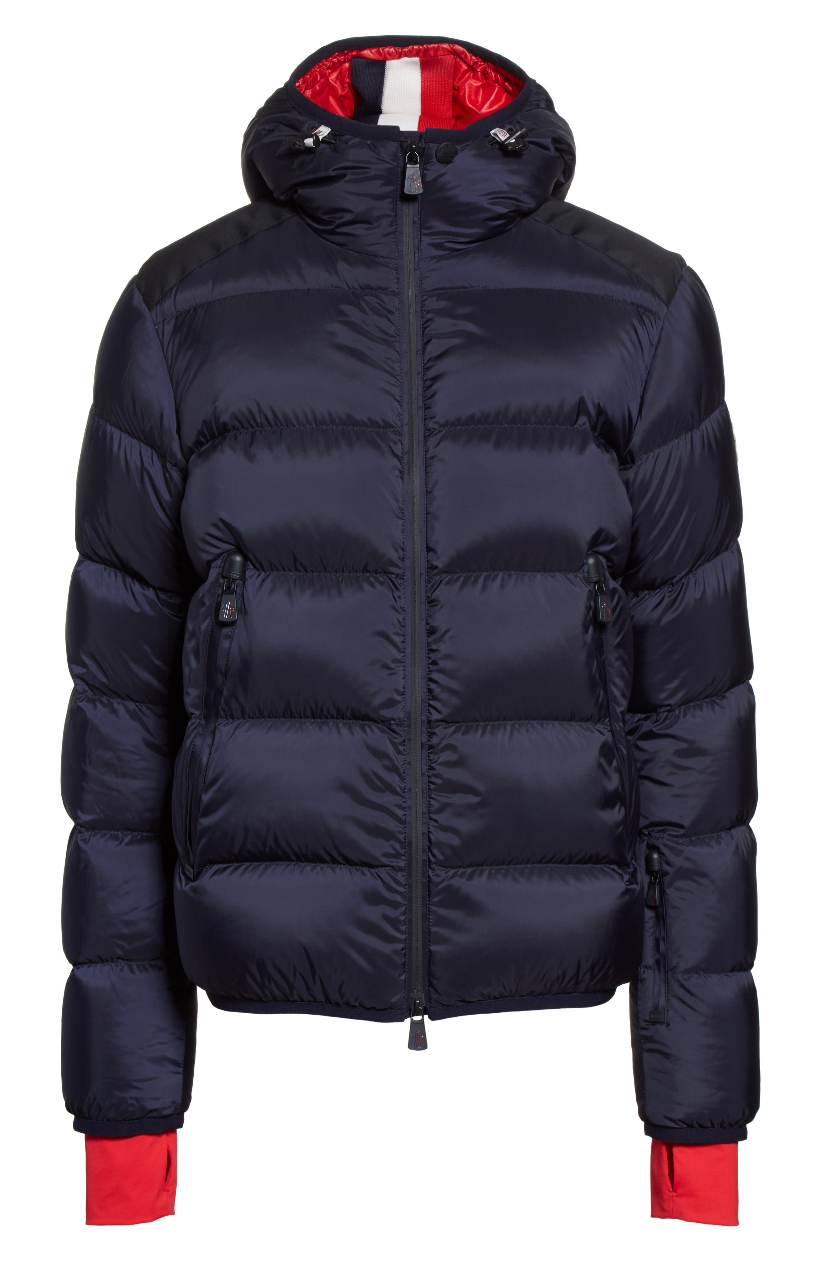 Grenoble Hintertux Hooded Down Jacket,                             Alternate thumbnail 6, color,                             Navy/ Red