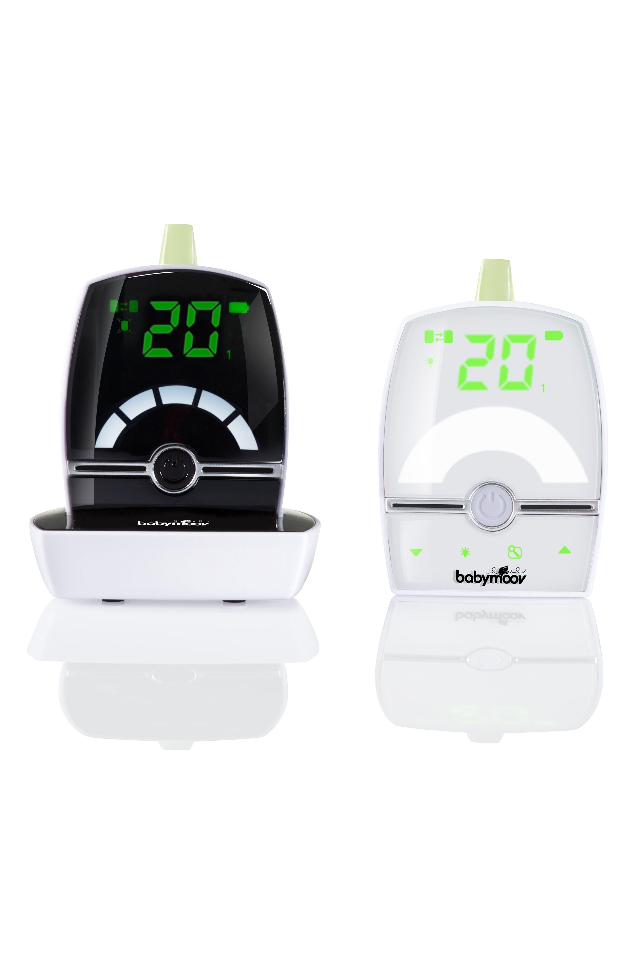 Premium Care Baby Monitor,                         Main,                         color, White/ Black