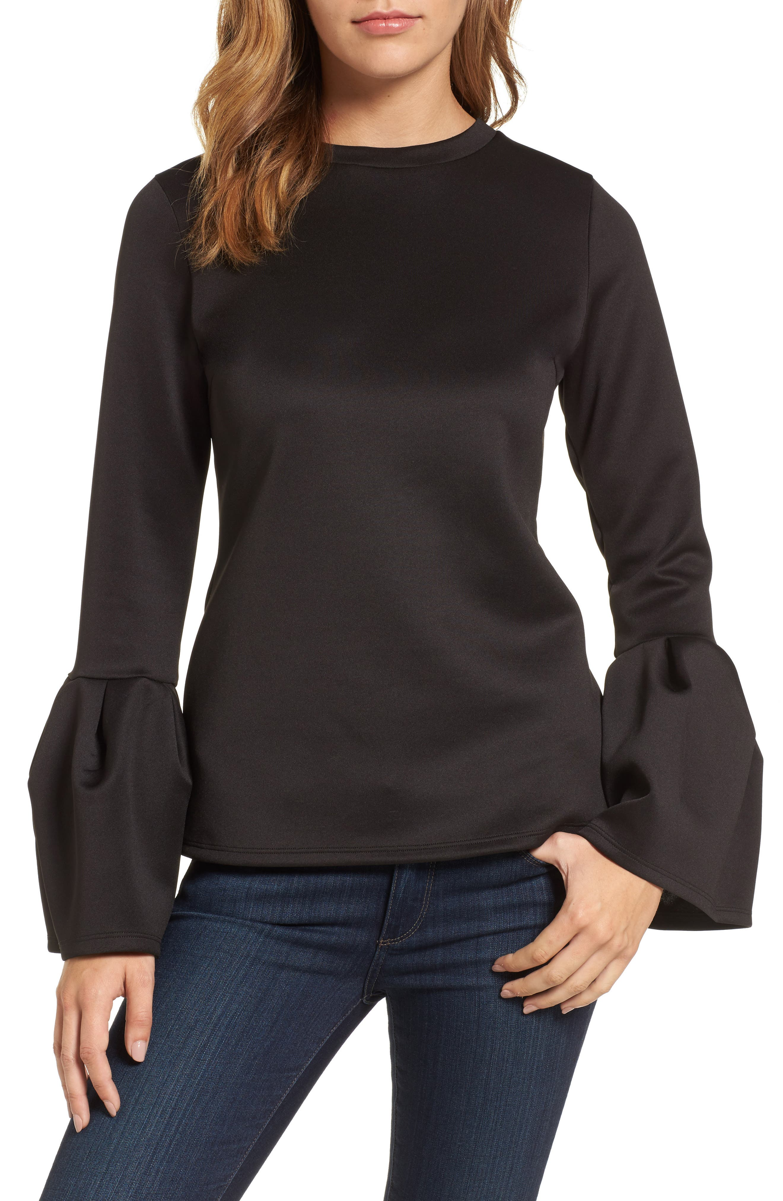 Main Image - Halogen® Bell Sleeve Top (Regular & Petite)