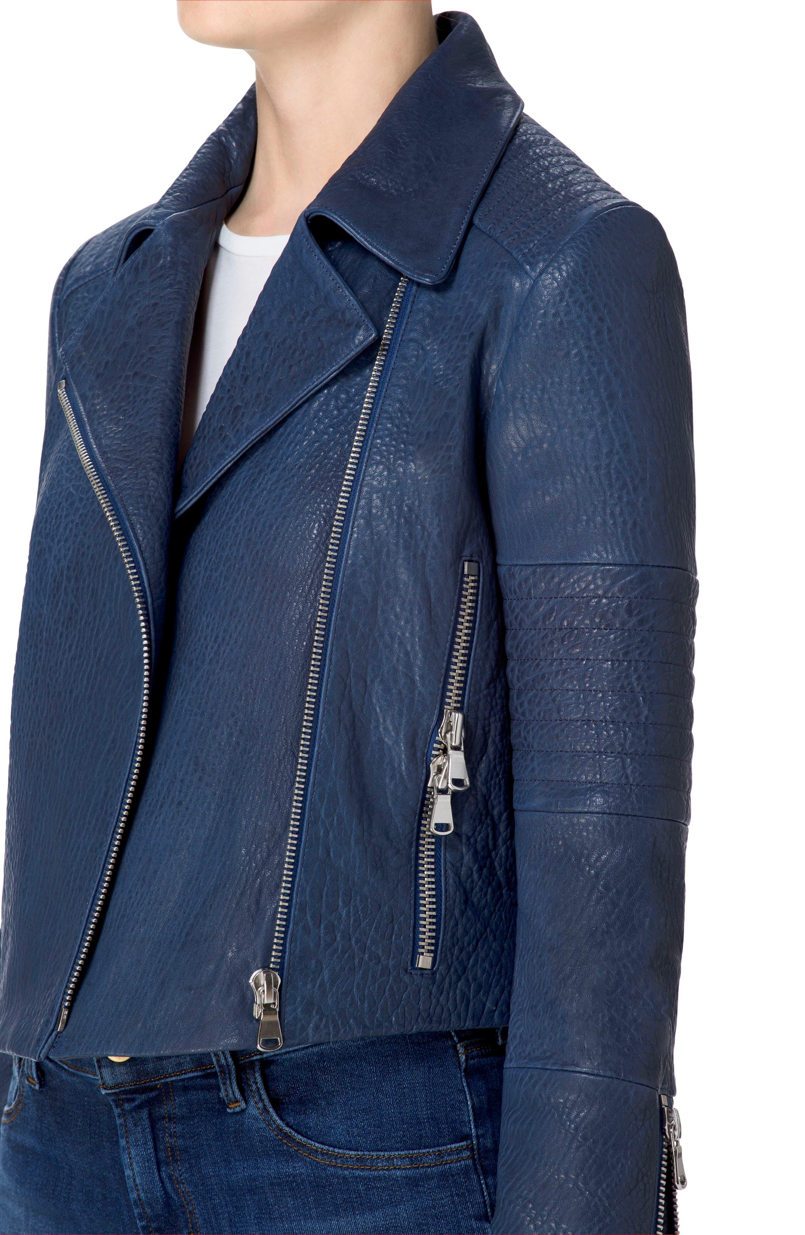 Alternate Image 4  - J Brand Aiah Leather Moto Jacket