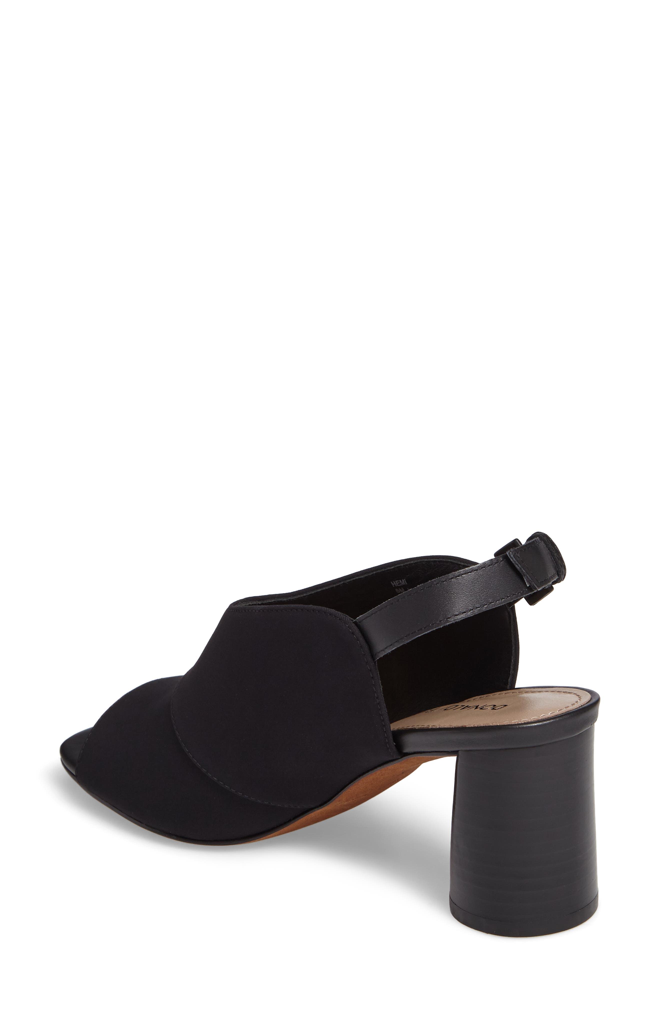 Donald J Pliner Hemi Slingback Sandal,                             Alternate thumbnail 2, color,                             Black Fabric