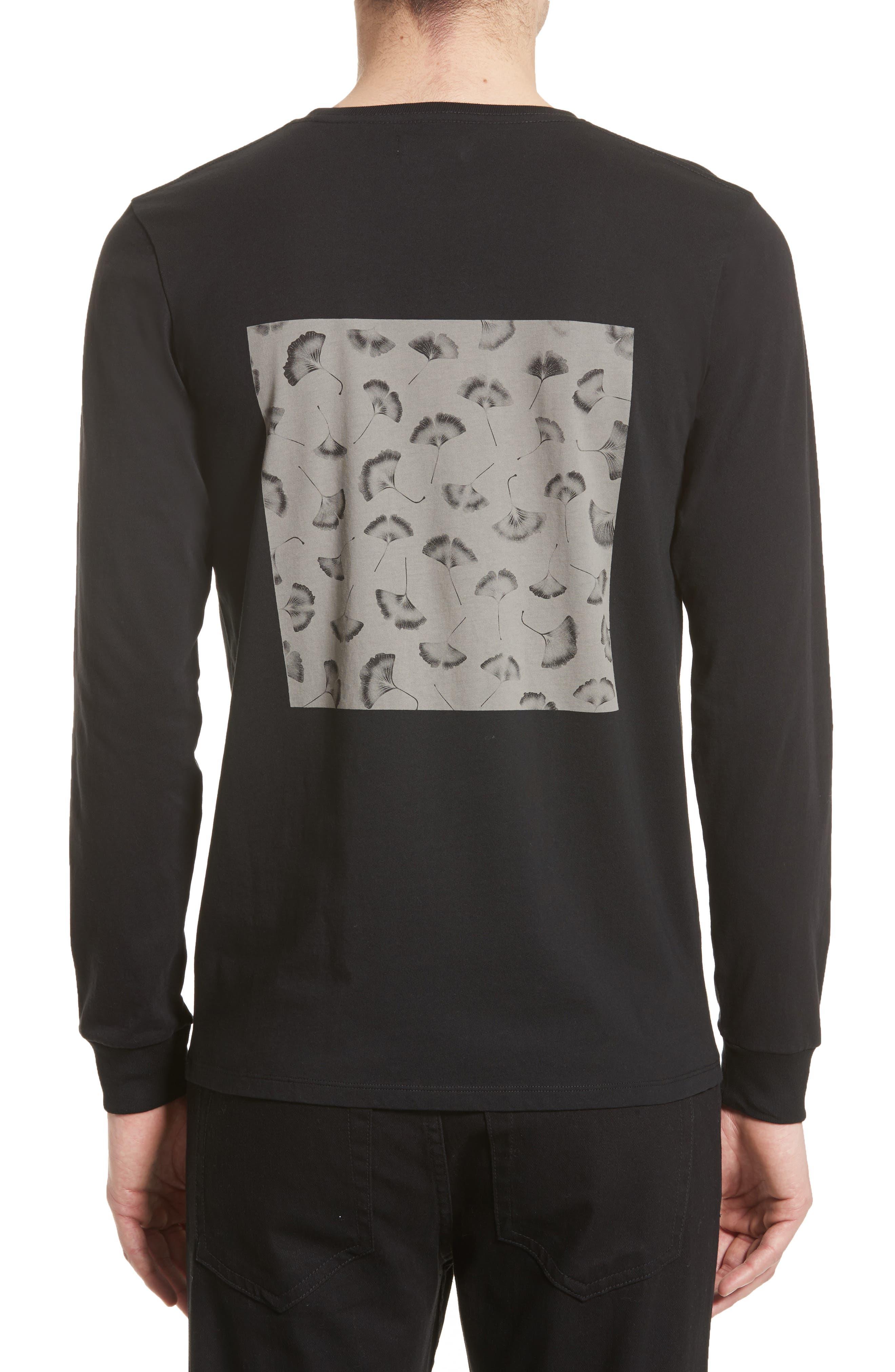 Ginkgo Graphic T-Shirt,                             Alternate thumbnail 2, color,                             Black