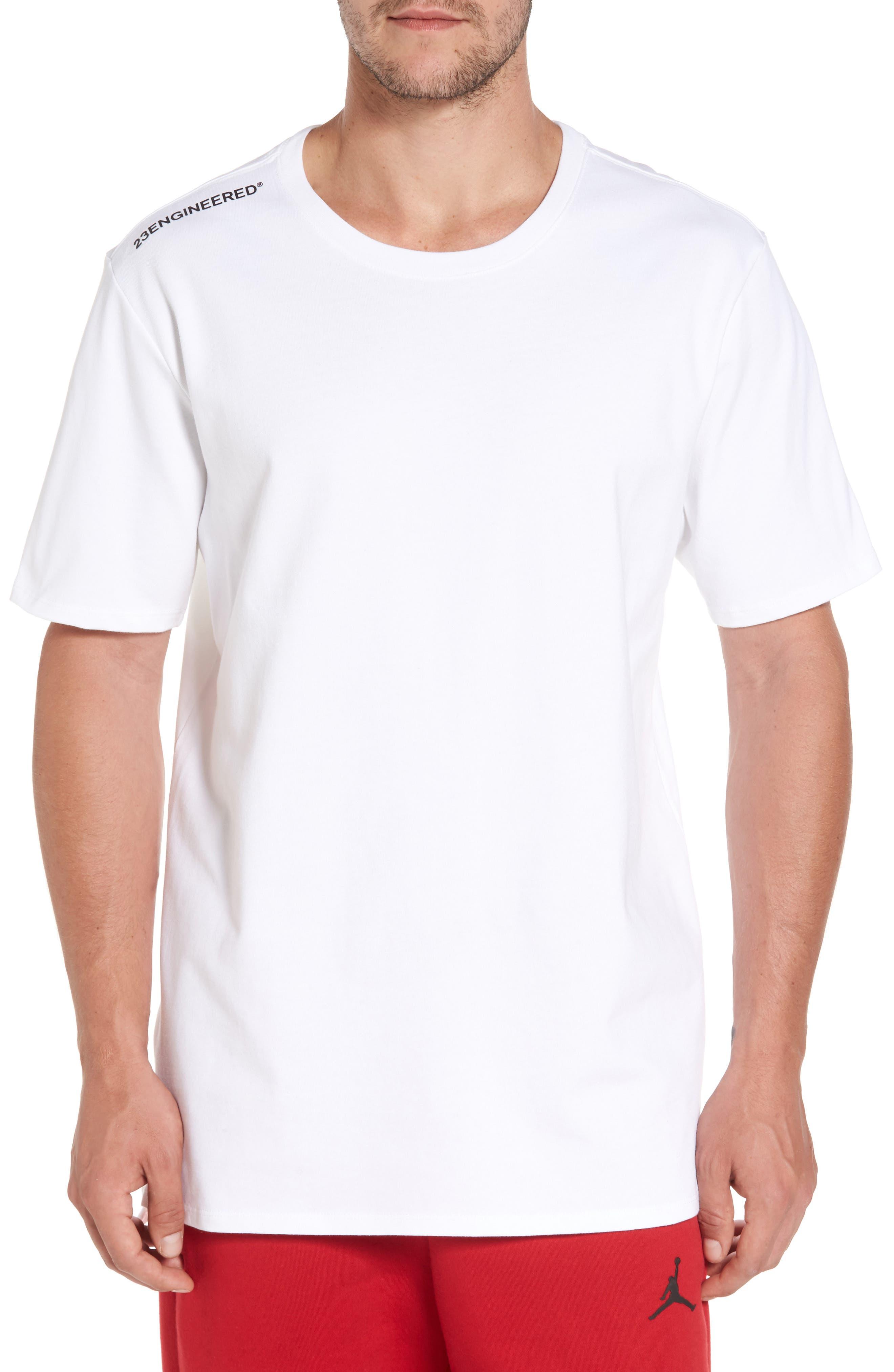 Sportswear 23 Engineered T-Shirt,                             Main thumbnail 1, color,                             White/ Black