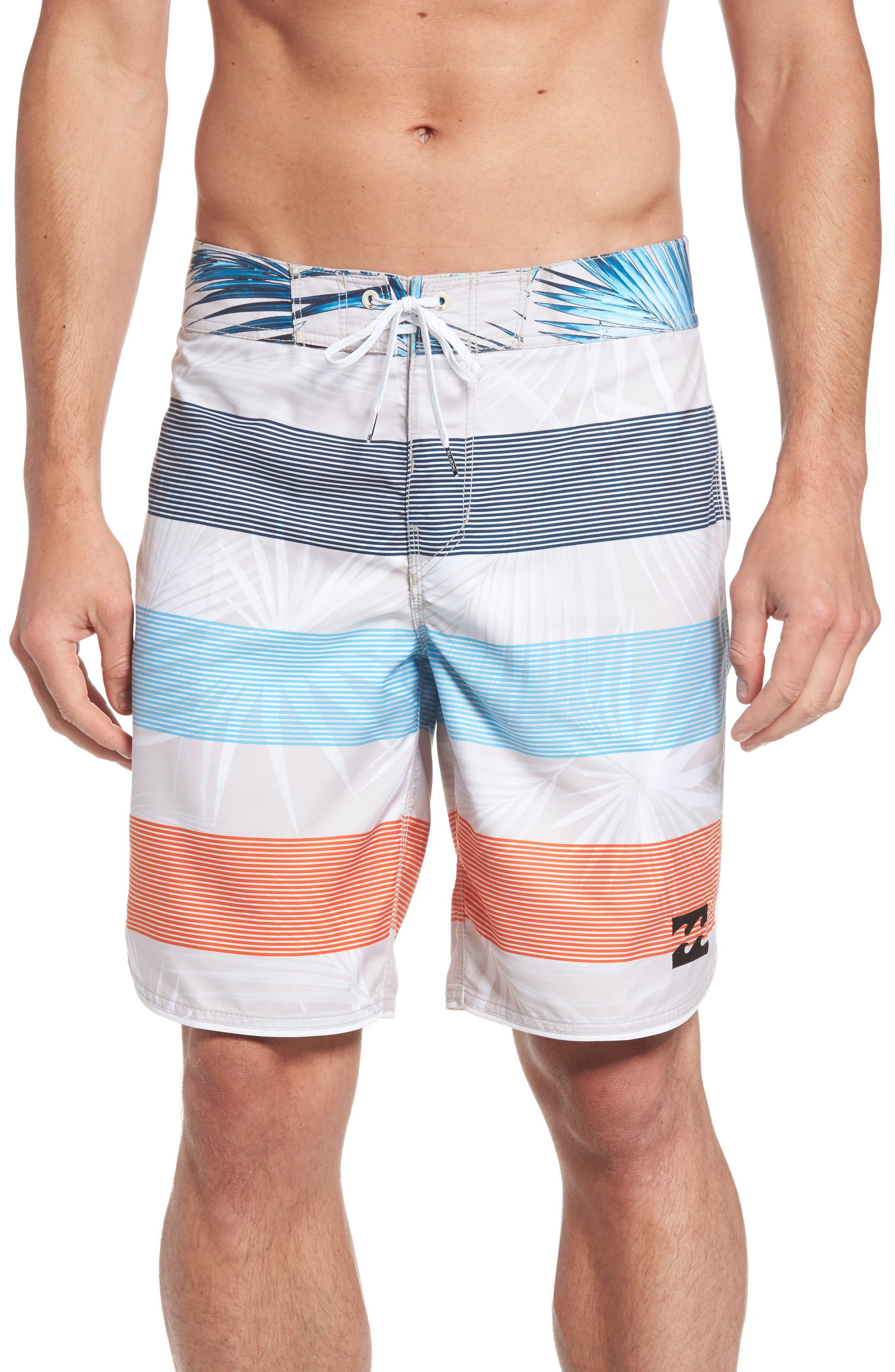 73 OG Stripe Board Shorts,                             Main thumbnail 1, color,                             Stone