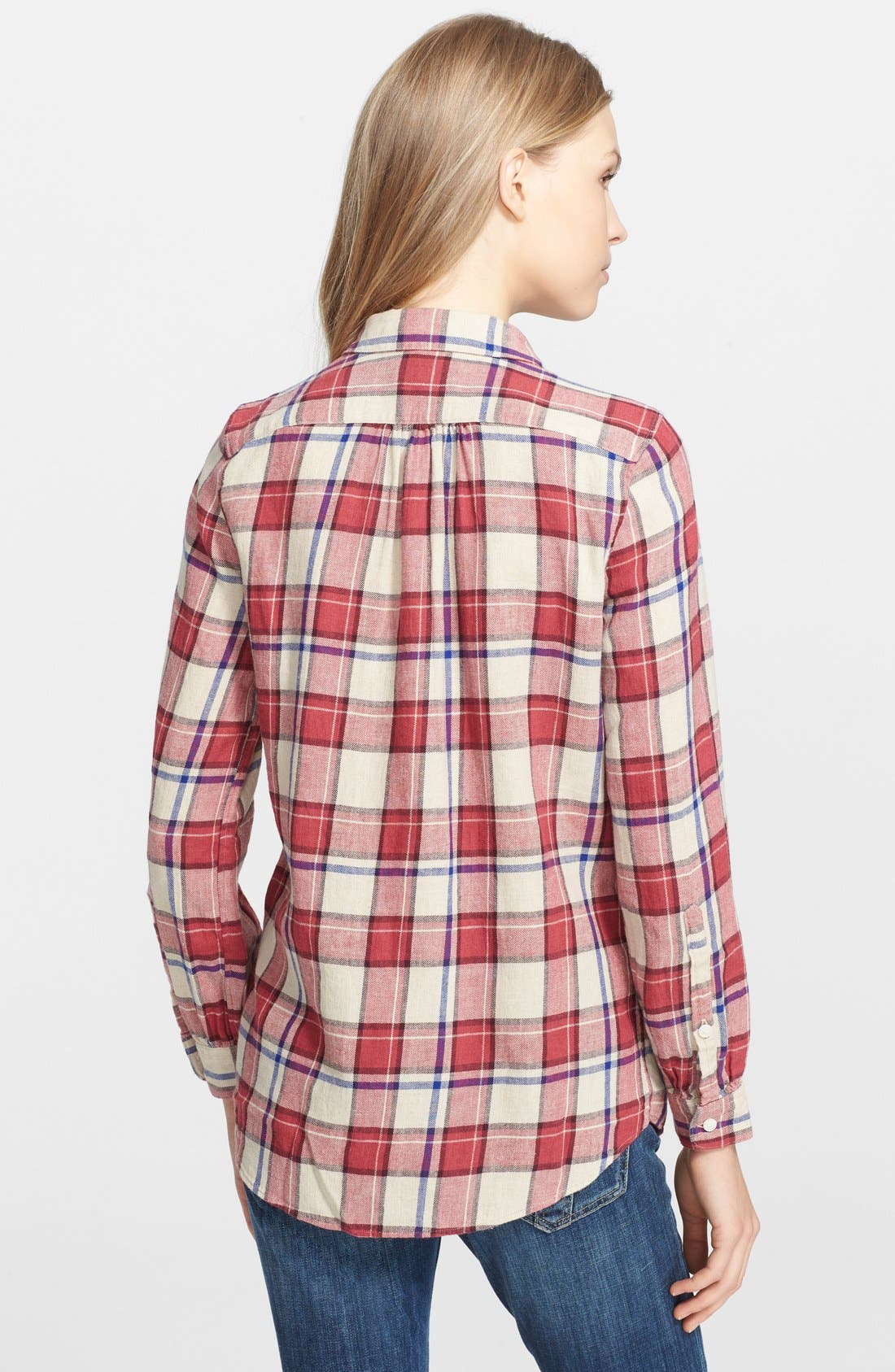 Alternate Image 2  - Burberry Brit Bib Front Flannel Shirt